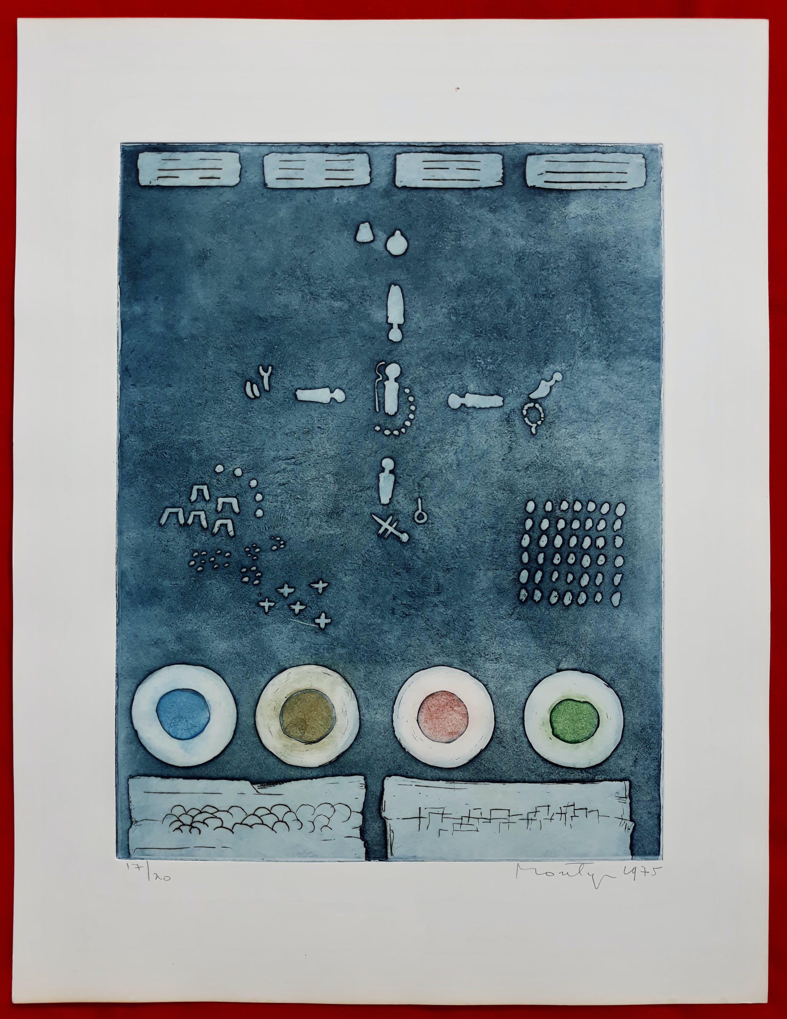 Jan Montyn - Chonyid Bardo - Non formation de pense, aquatint ets (kleine oplage) kopen? Bied vanaf 115!