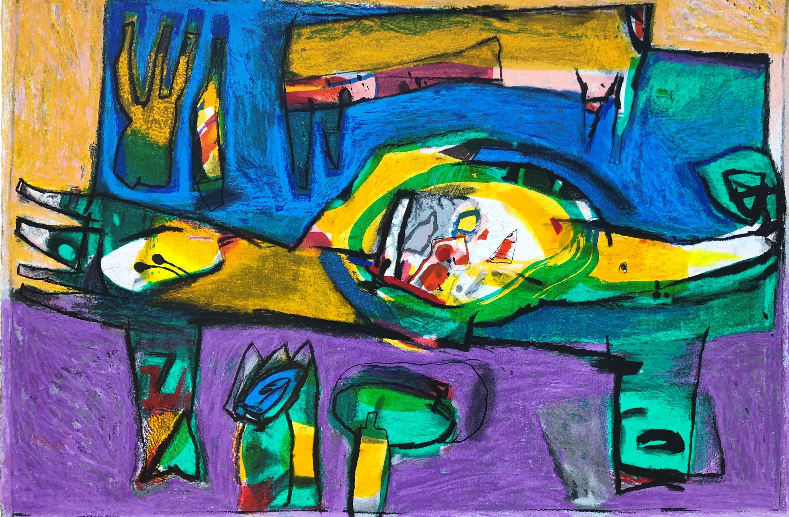 Geert Vrijdag - Kleurenzeefdruk - EUFRAAT Handgesigneerd--GROOT!! kopen? Bied vanaf 173!