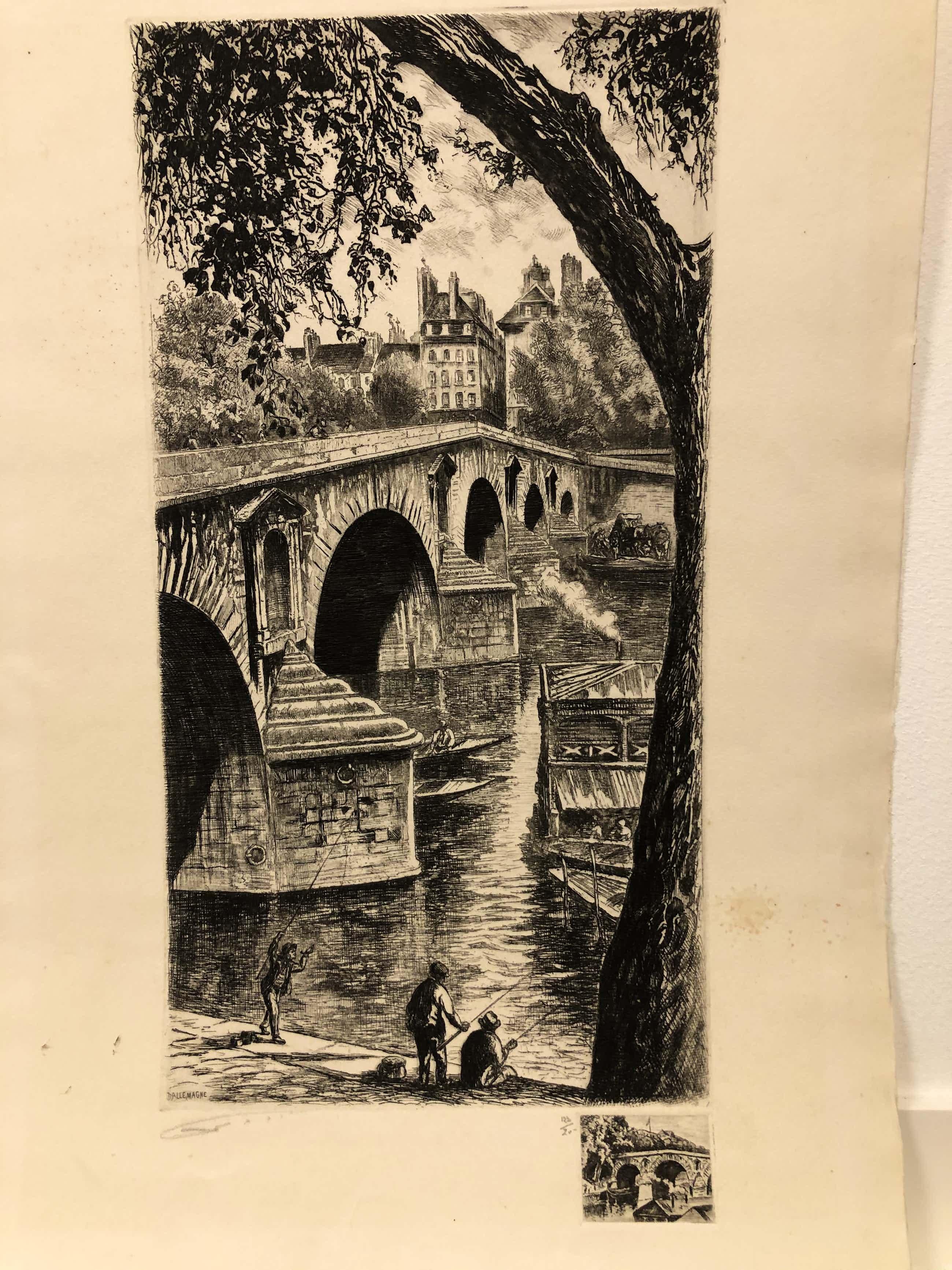 Aime Edmond Dallemagne - Vissers bij brug kopen? Bied vanaf 22!