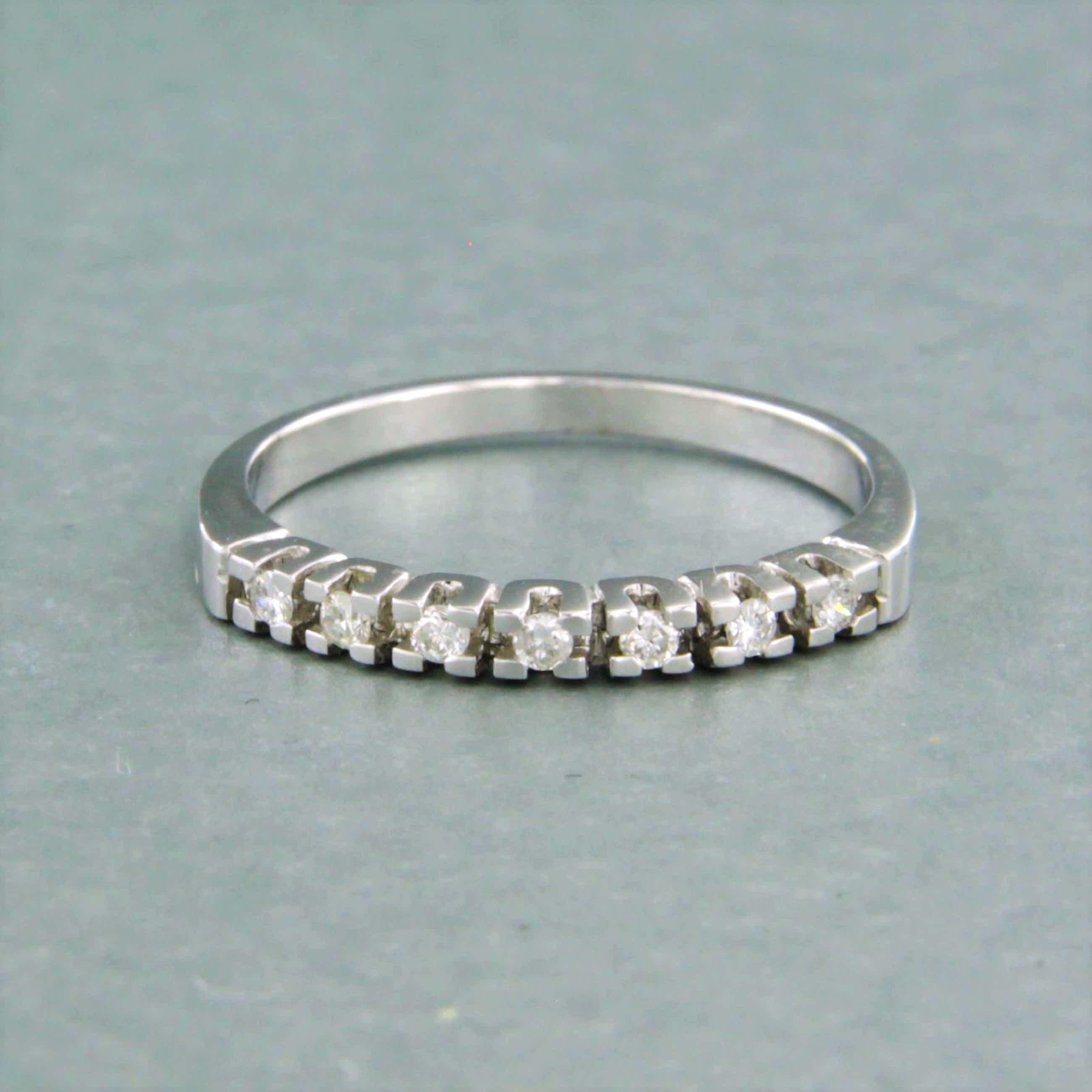 BWG witte rijring bezet met briljant geslepen diamant tot 0,10ct - rm 17 (53) kopen? Bied vanaf 110!