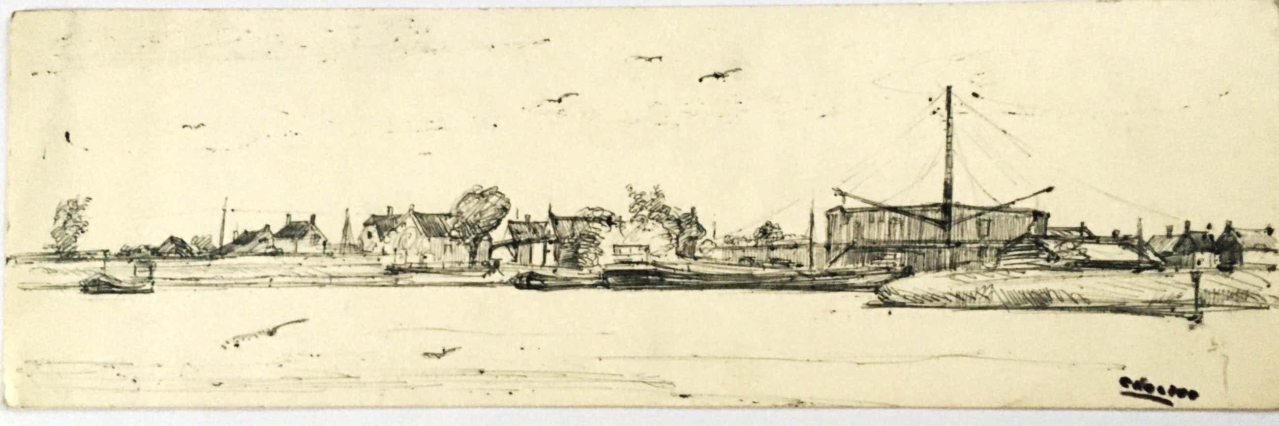 Cor Noltee - Tekening omgeving Dordrecht kopen? Bied vanaf 139!