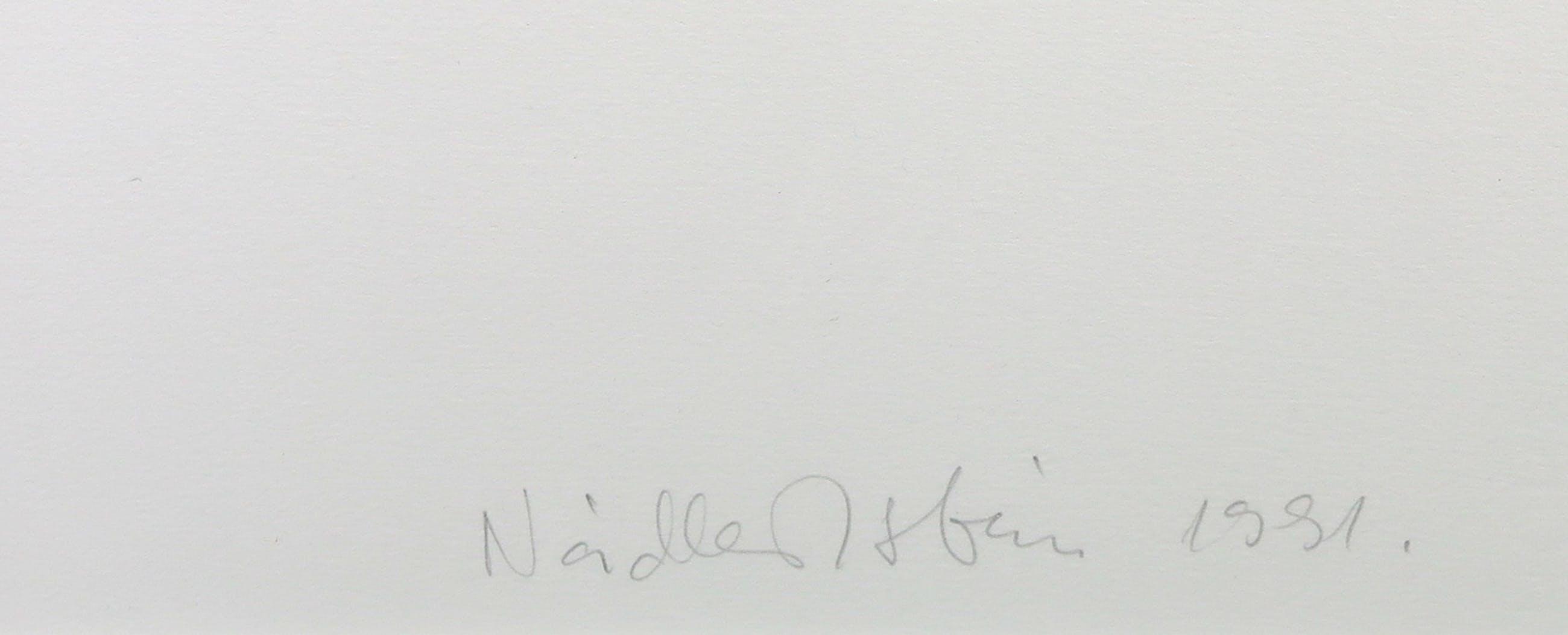 Istvan Nadler - Litho, Z.T. Memoire de la liberte - Ingelijst (Groot) kopen? Bied vanaf 150!