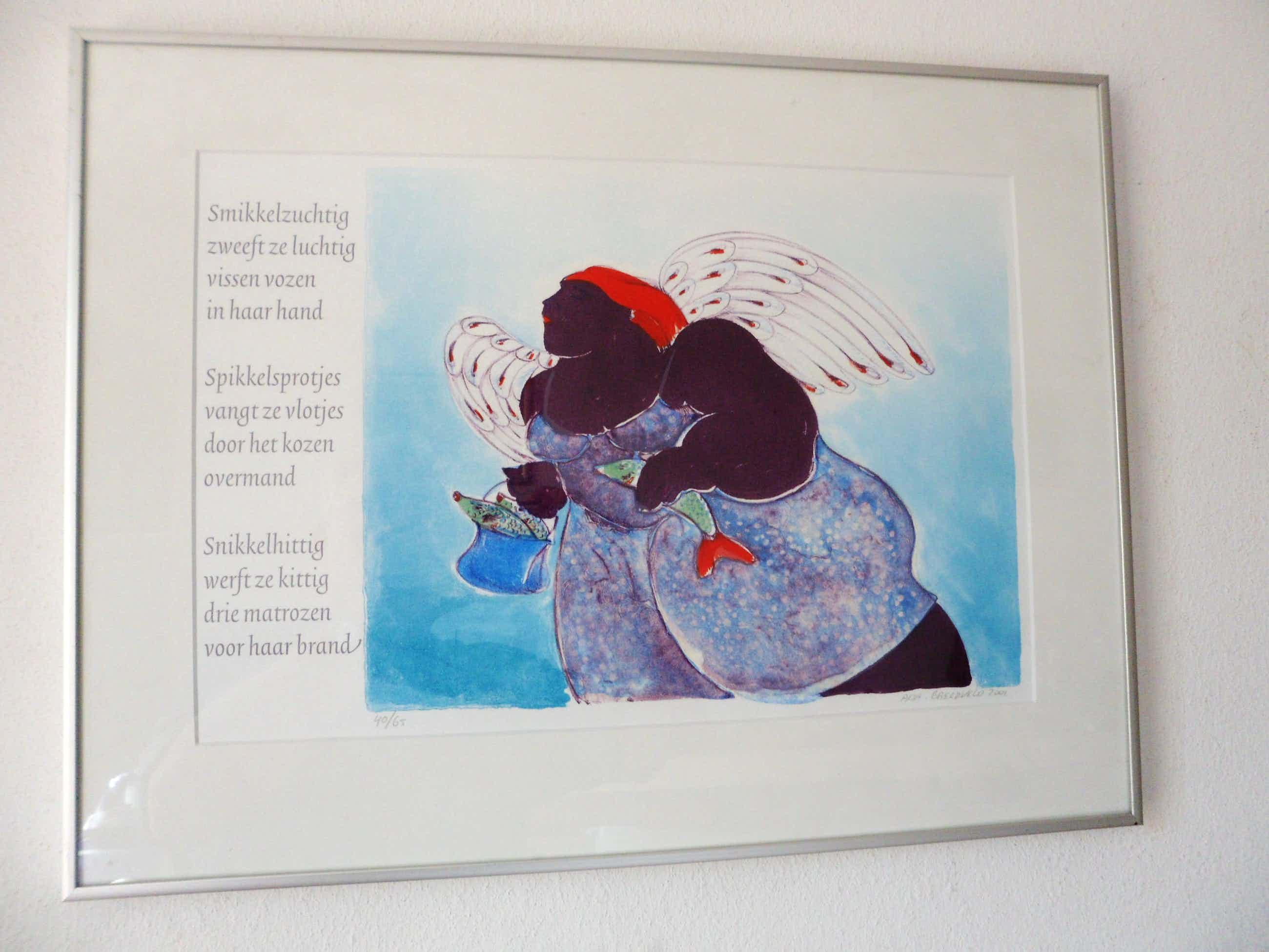 Ada Breedveld - Litho van Ada Breedveld uit 2001, met gedicht van Jan Petrie. kopen? Bied vanaf 35!