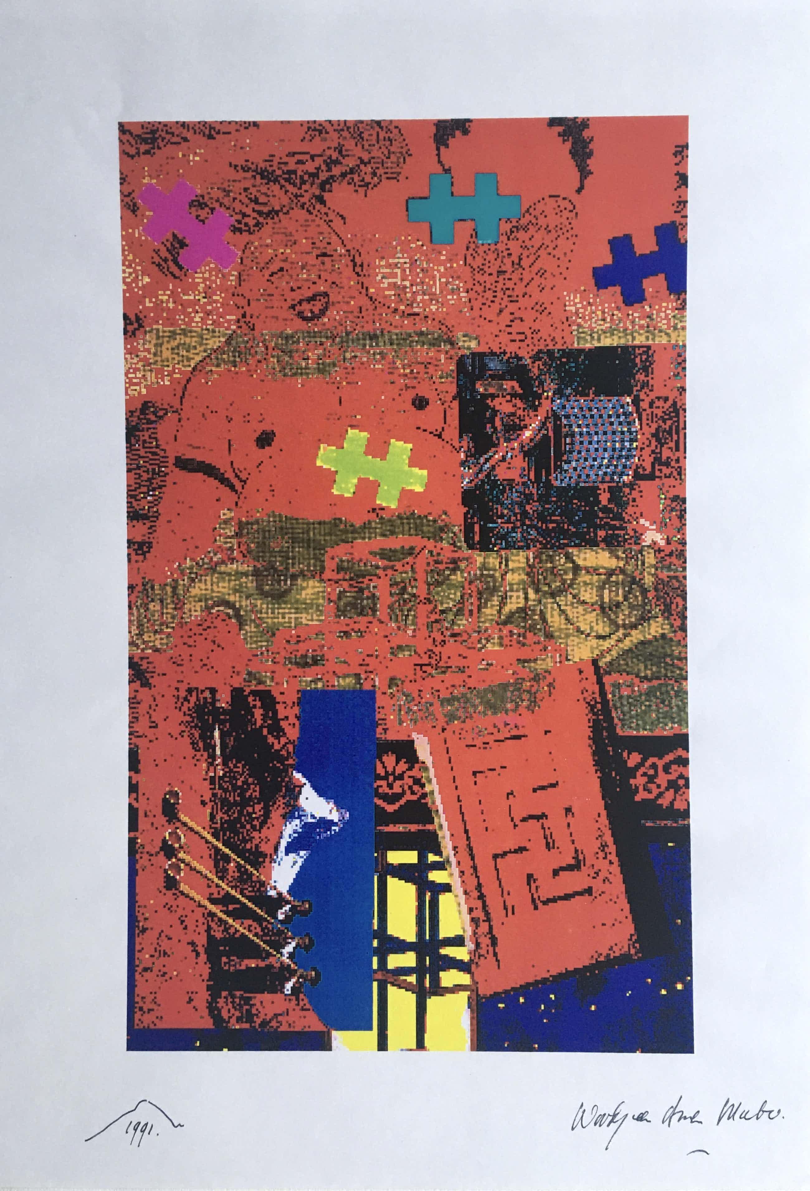Woody van Amen - fraaie popart computerprint - 1991 kopen? Bied vanaf 45!