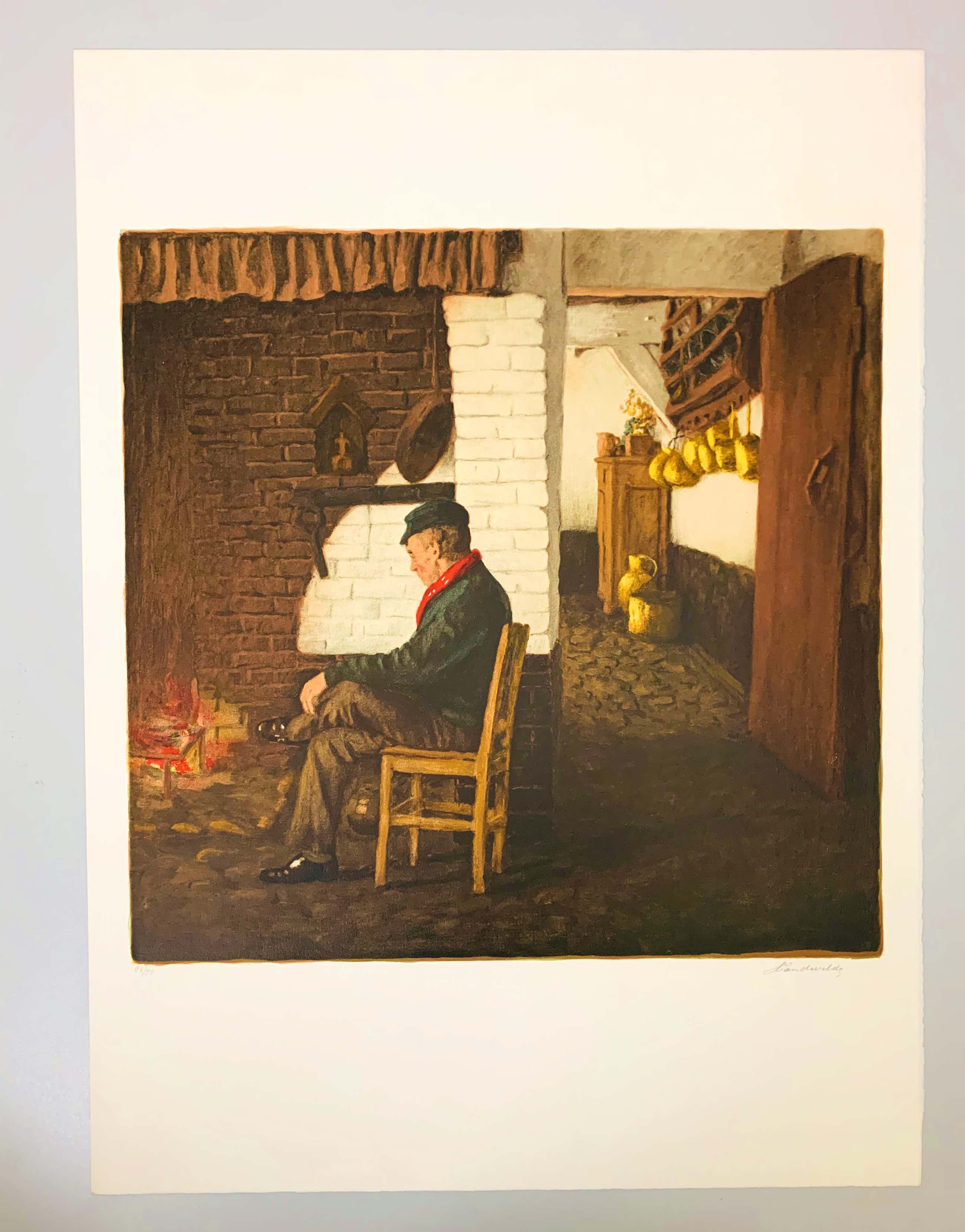 Lucien Van de Velde - Staring at the fire kopen? Bied vanaf 20!