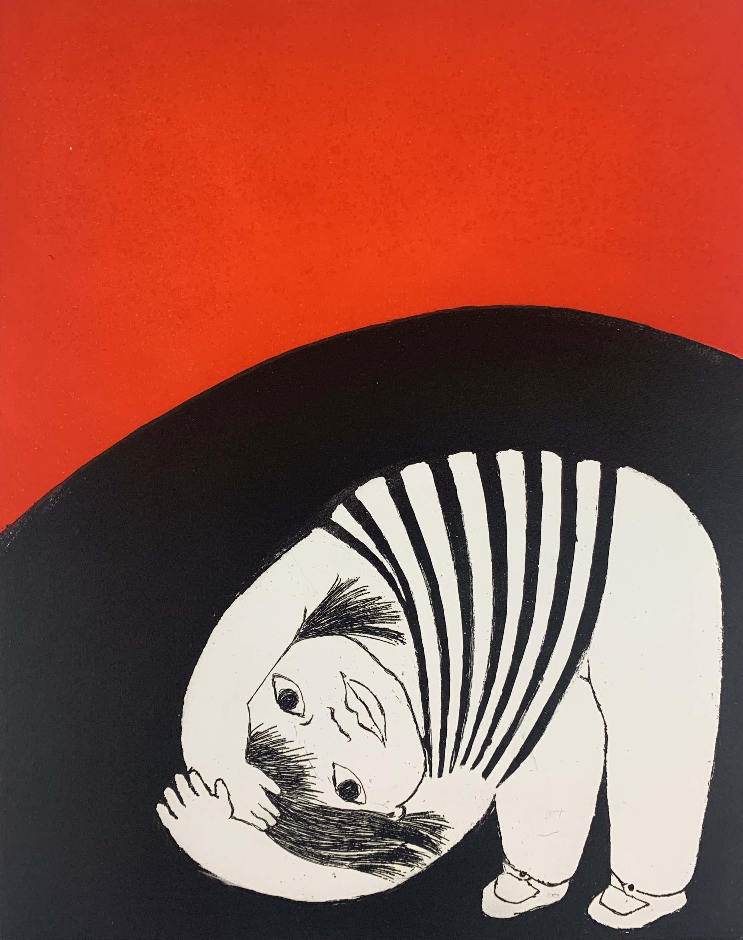 Ans Wortel - kleurenets - 'Tussen de bodem en de lucht' - 1979 (Prent 190) Serie 11C kopen? Bied vanaf 75!