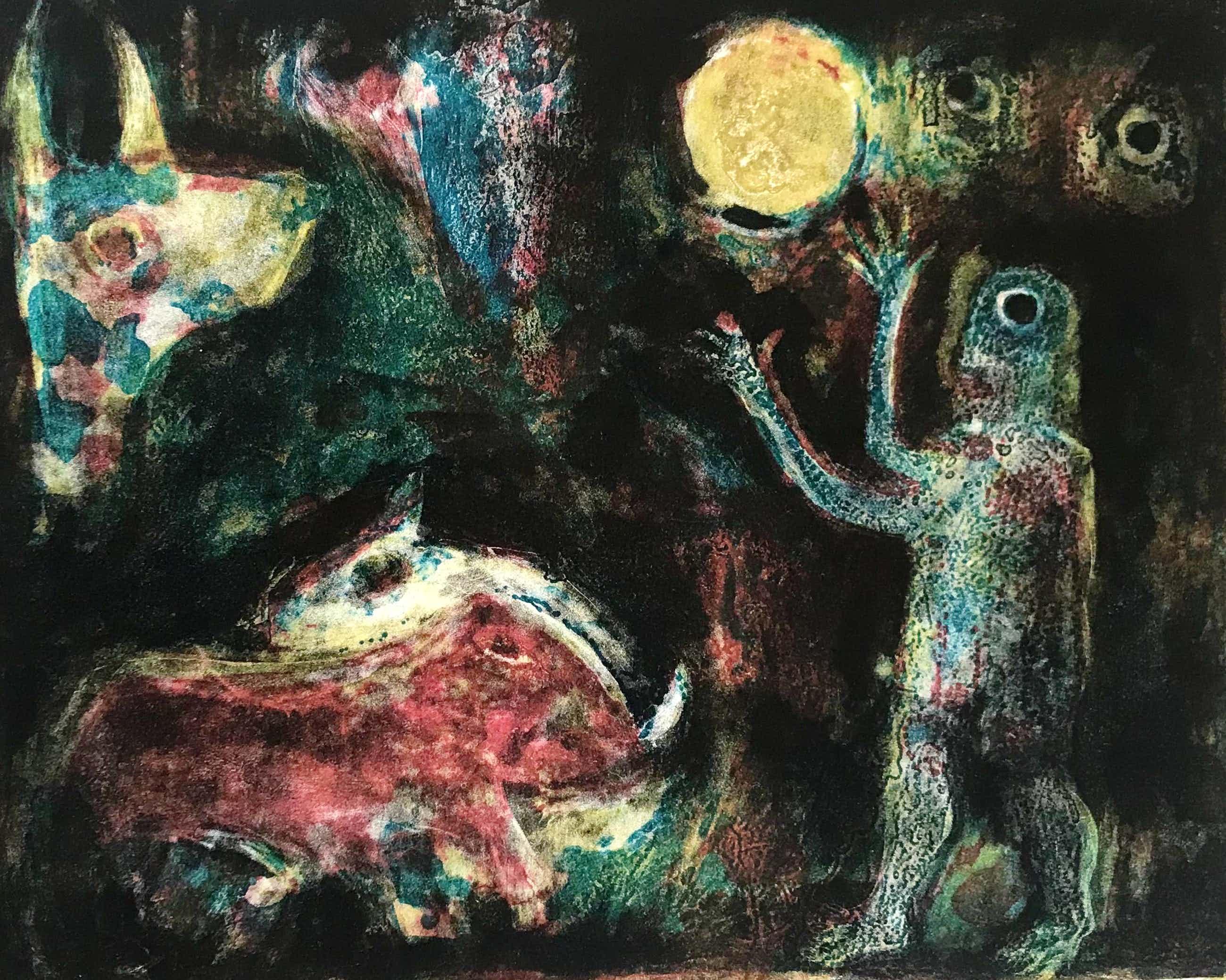 Reidar Magnus - Originele kleurenlitho - 1966 - Gesigneerd - 1/22 kopen? Bied vanaf 105!