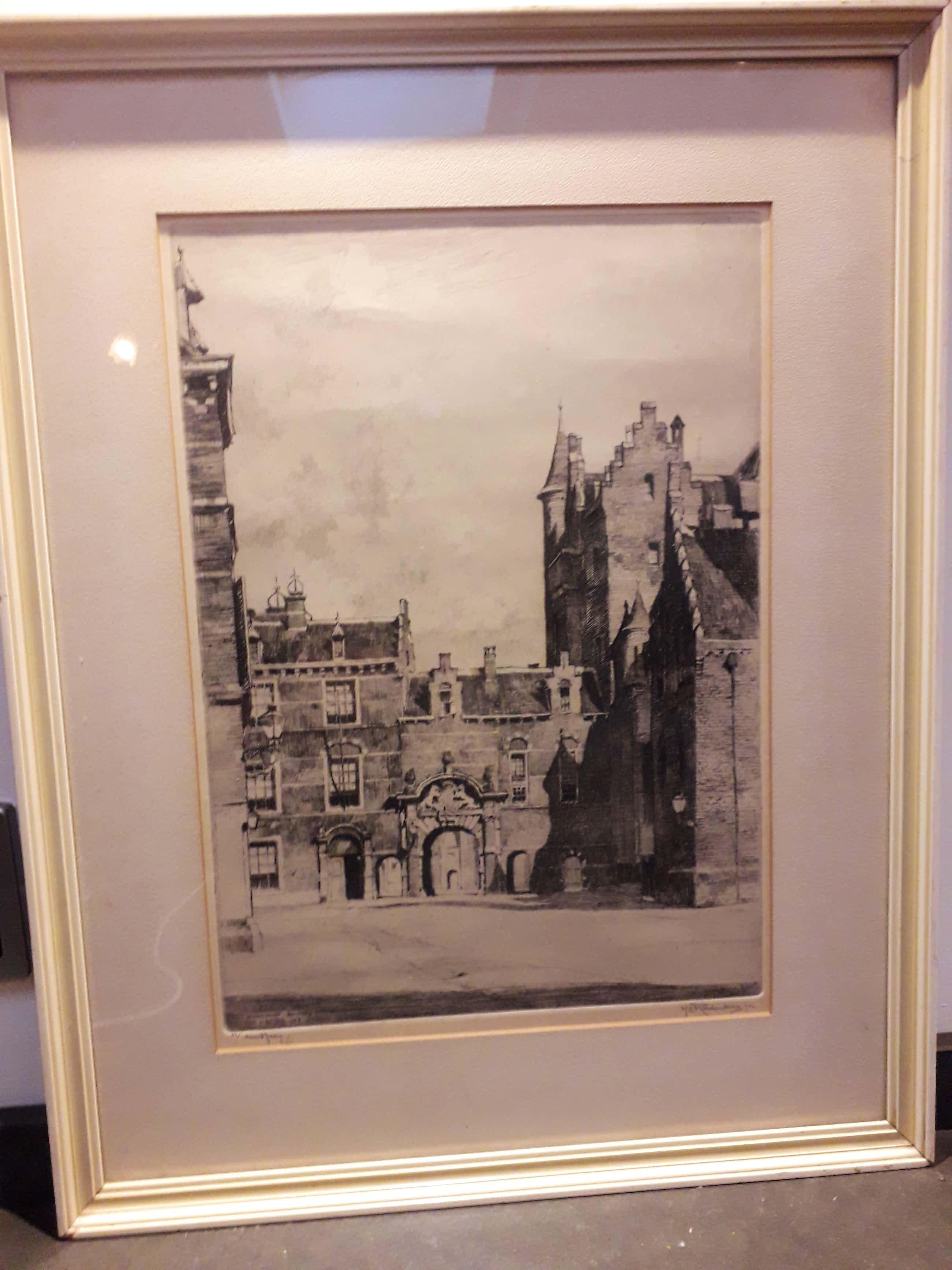 Hendrikus Roodenburg - Binnenhof Den Haag 1928 kopen? Bied vanaf 106!