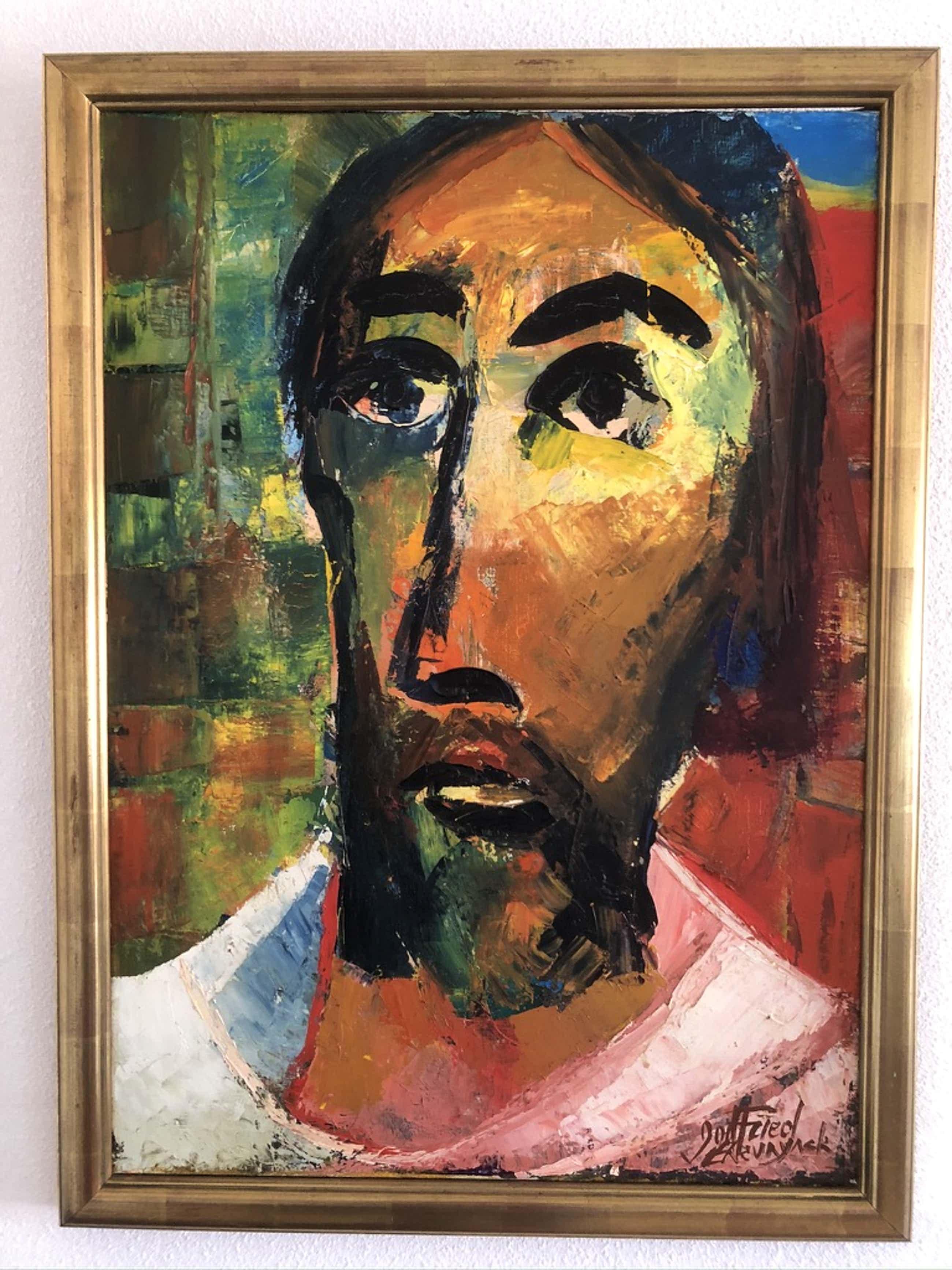 """Godfried Theunynck - Schitterend kenmerkend schilderij uit 1992 - """"Profeet """" LAATSTE KANS !!!!!!!!!!! kopen? Bied vanaf 95!"""