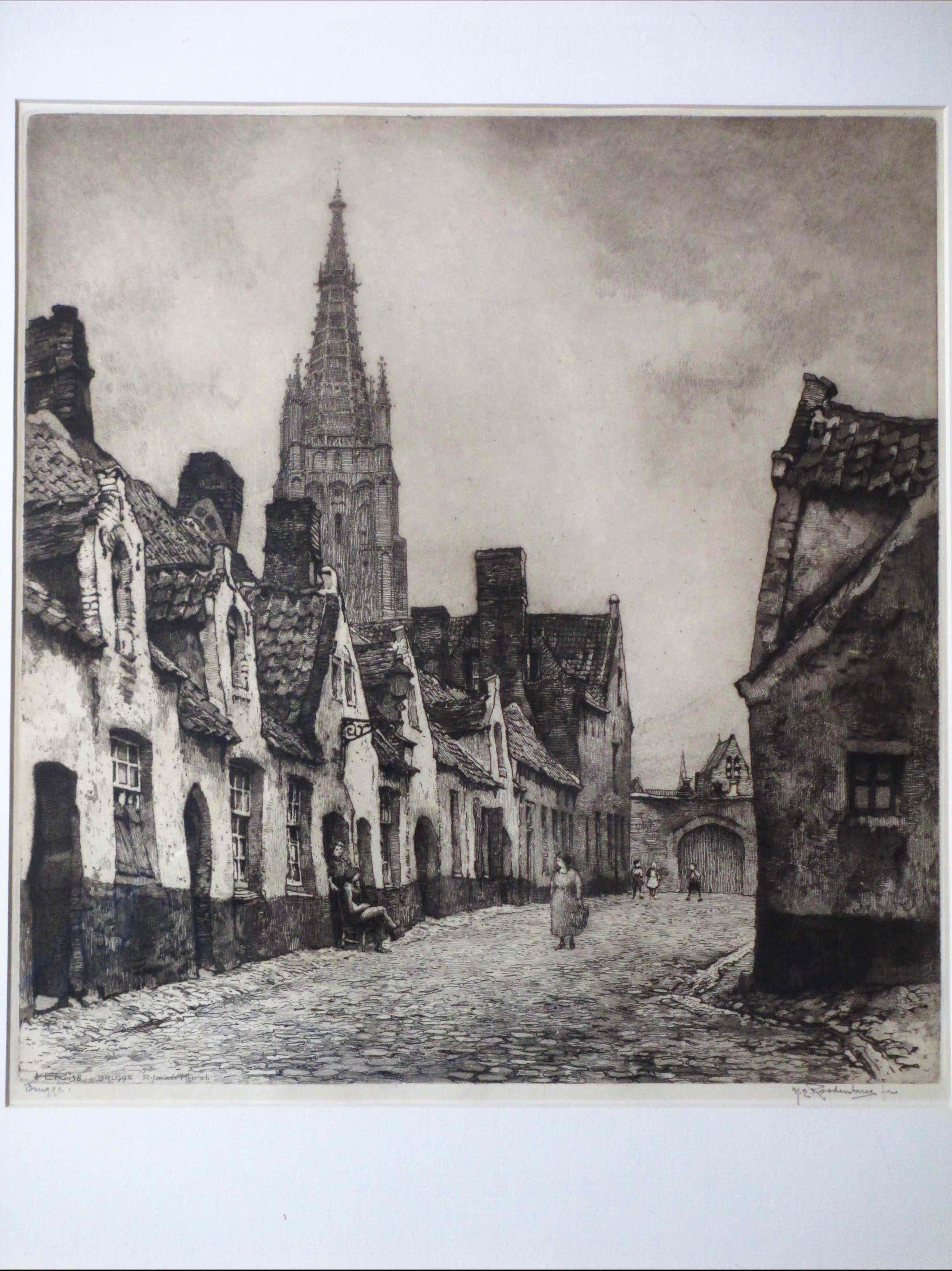 Hendrikus Roodenburg - St. Jan in de Meersch in Brugge - Ets kopen? Bied vanaf 40!