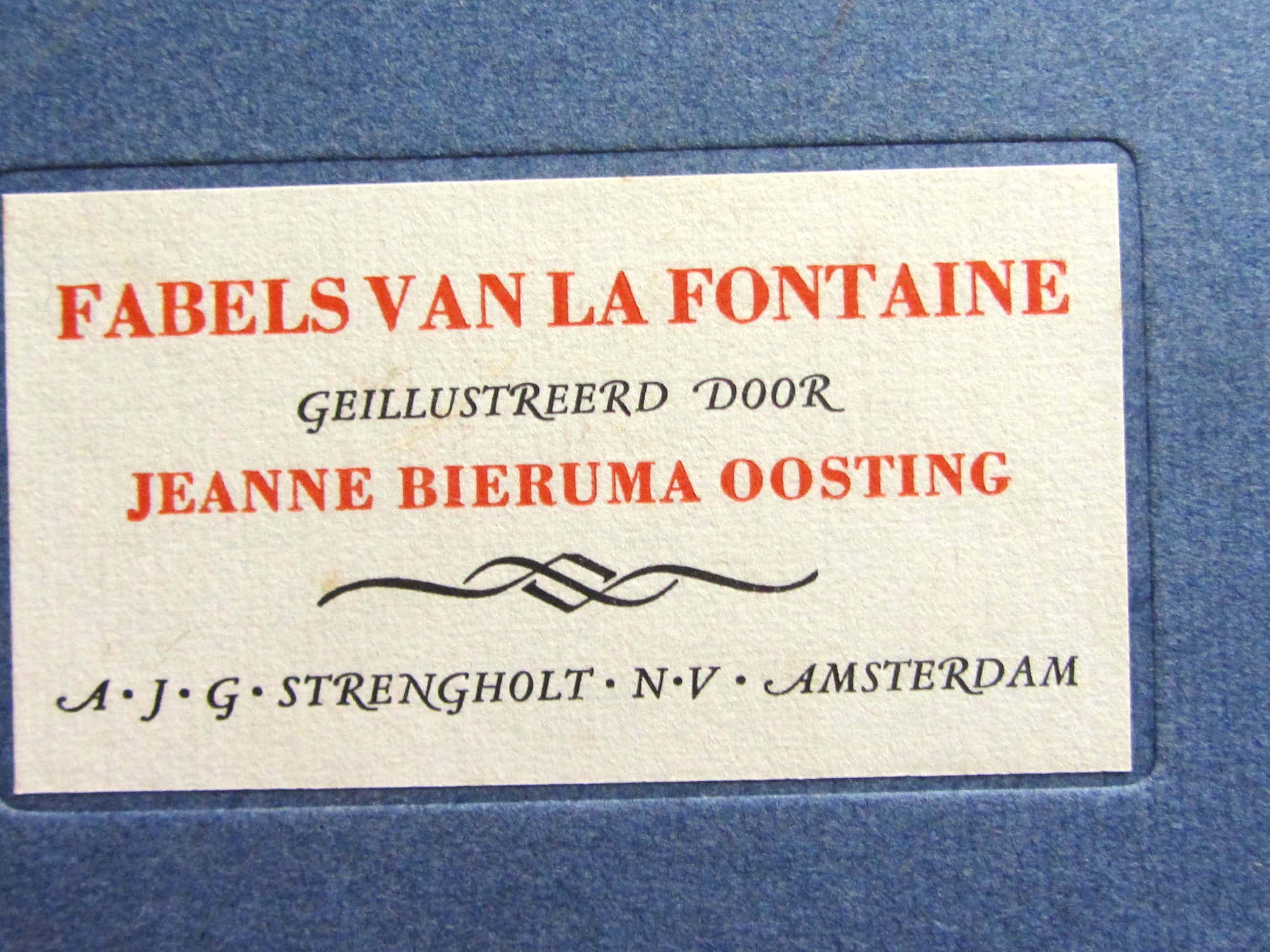Jeanne Bieruma Oosting - 12 etsen fabels kopen? Bied vanaf 40!
