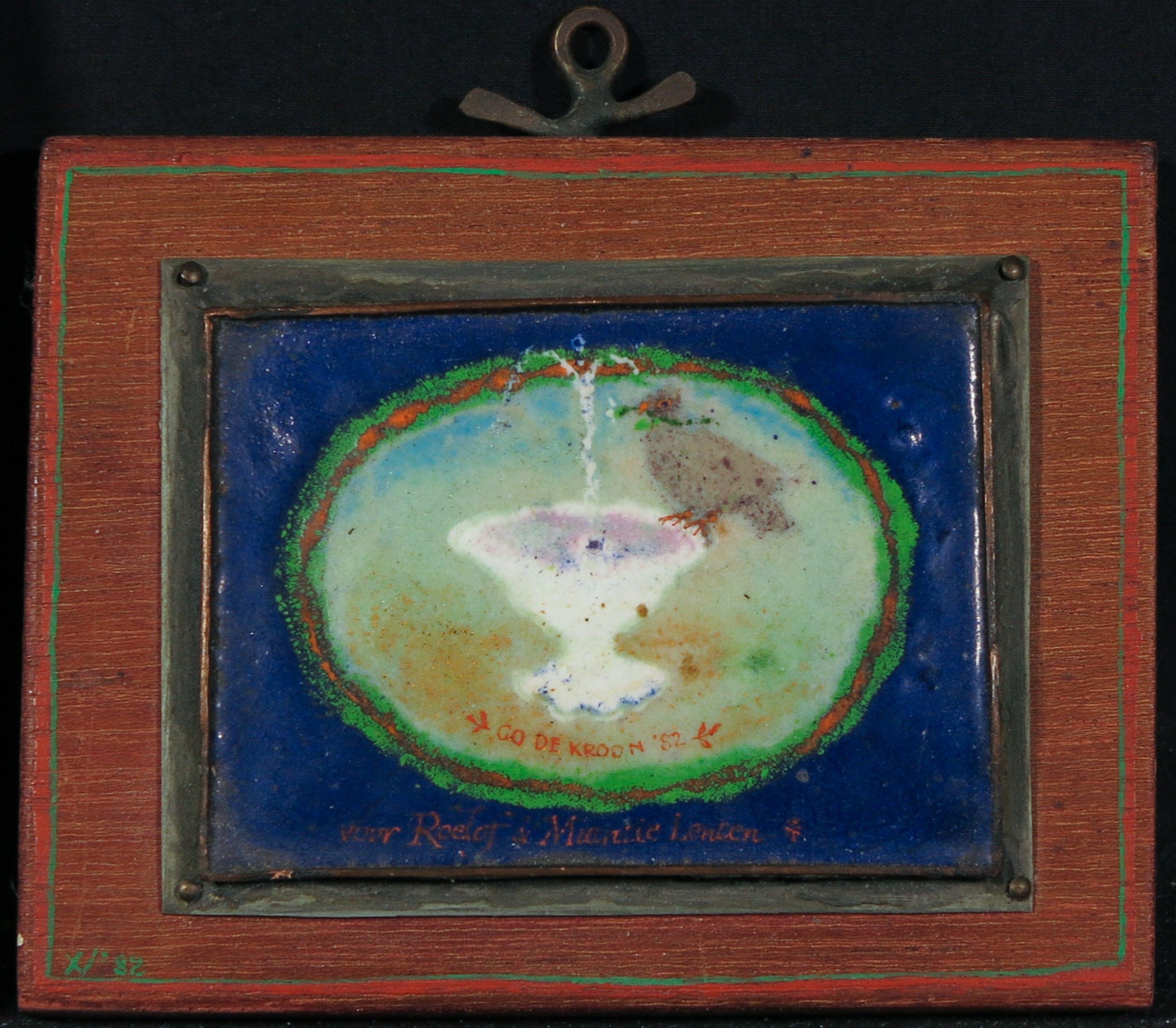 Go de Kroon - Emaille schildering, Vogeltje kopen? Bied vanaf 80!