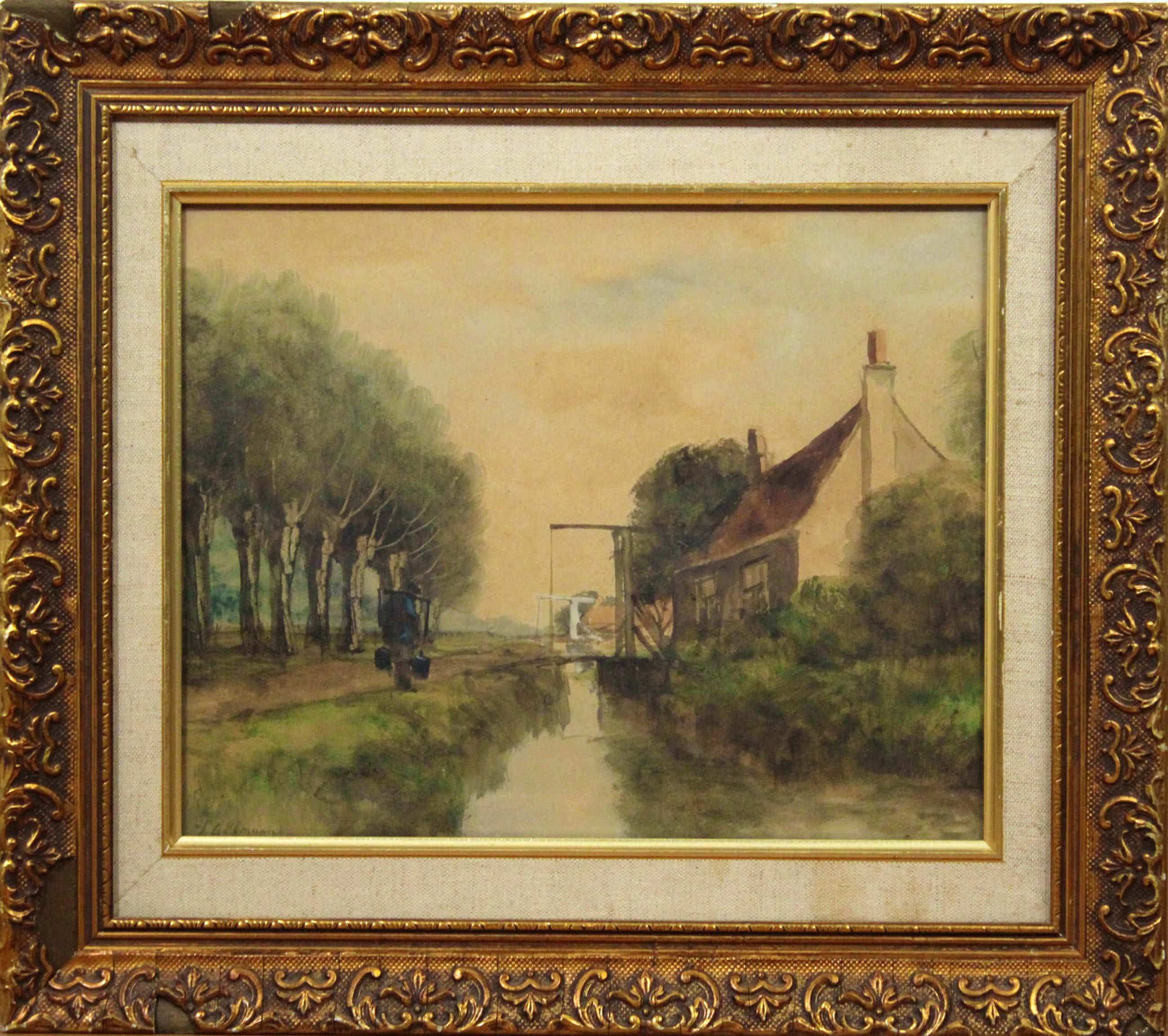 Gerard Altmann (I) - aquarel op papier - landschap kopen? Bied vanaf 160!