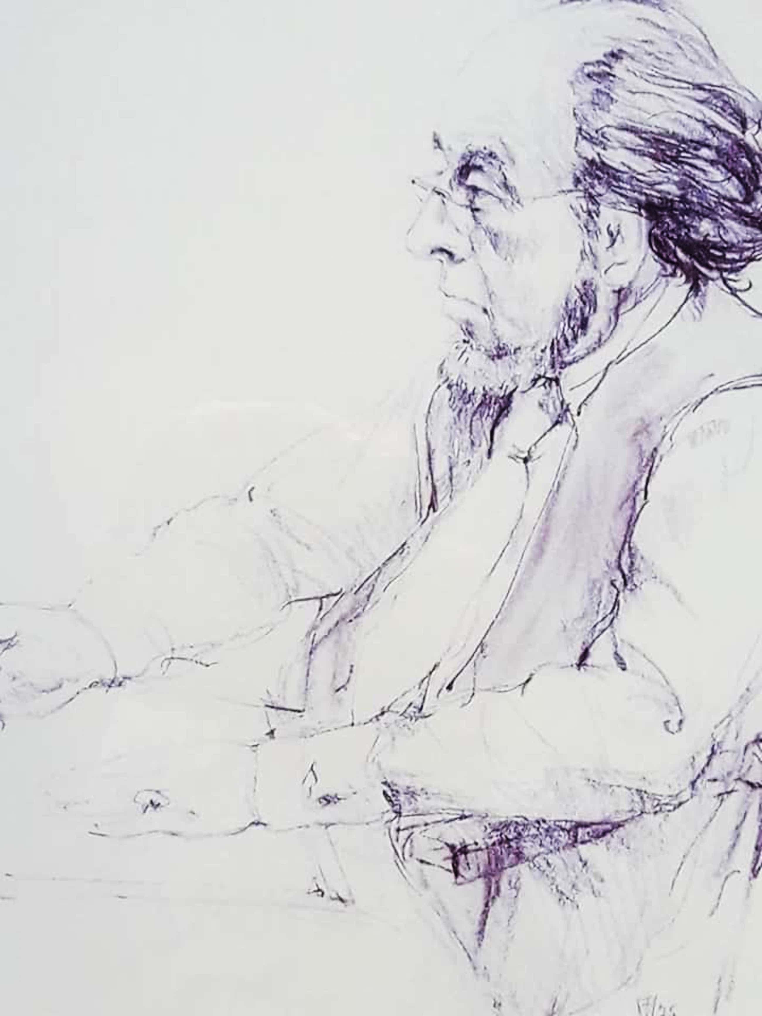 Hen Euverman - Man aan tekentafel. (zelfportret?) kopen? Bied vanaf 55!