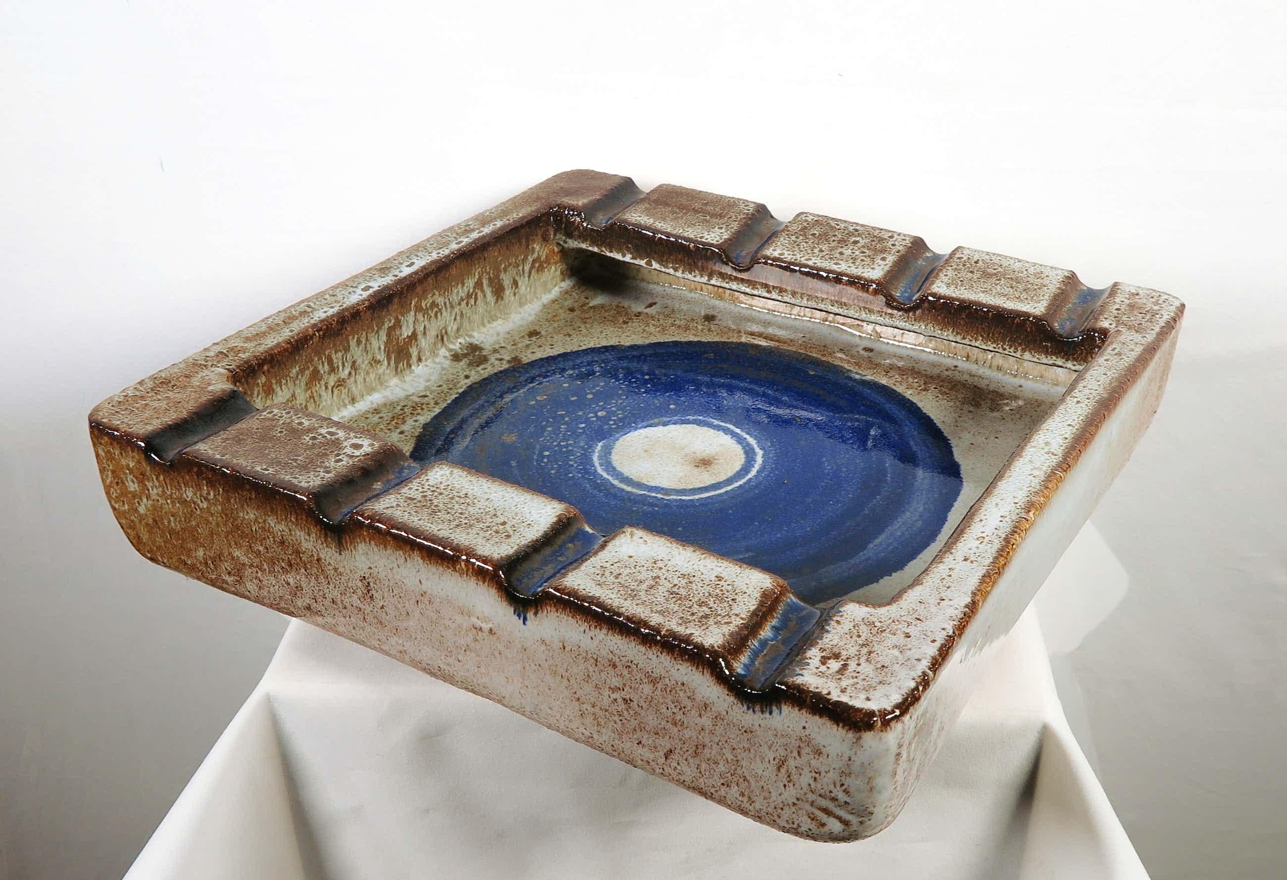 Potterij Zaalberg - Geglazuurde steengoed asbak kopen? Bied vanaf 50!