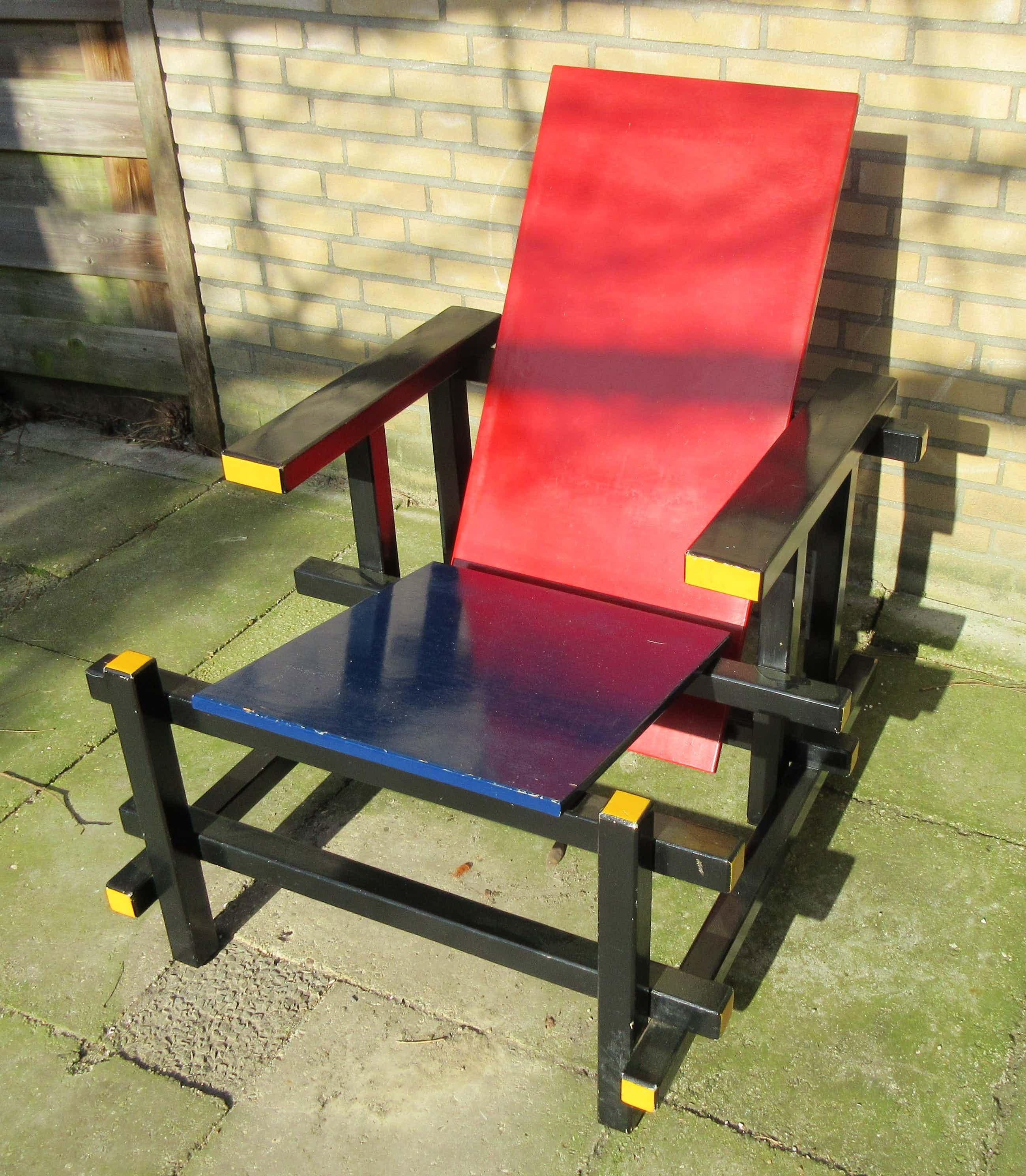 Gerrit Rietveld - Replica rood blauwe stoel kopen? Bied vanaf 160!