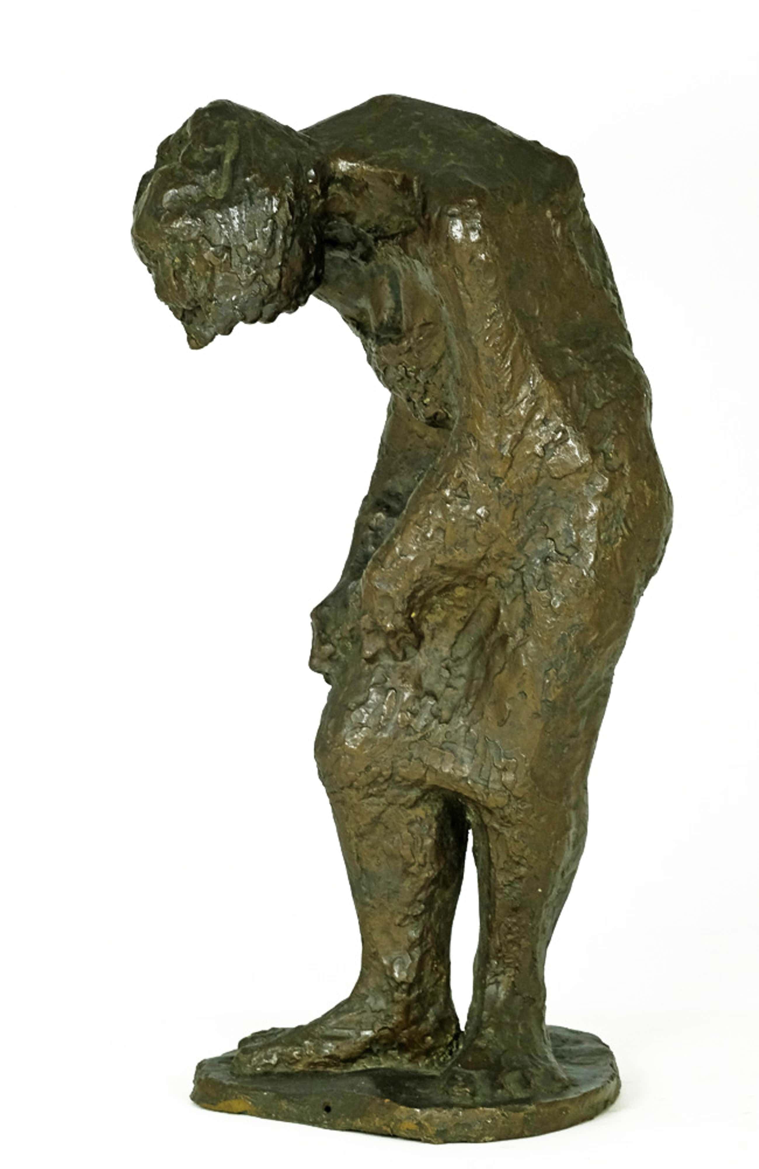 Brons (Onbekend) - Bronzen sculptuur van dame - met monogram kopen? Bied vanaf 1750!