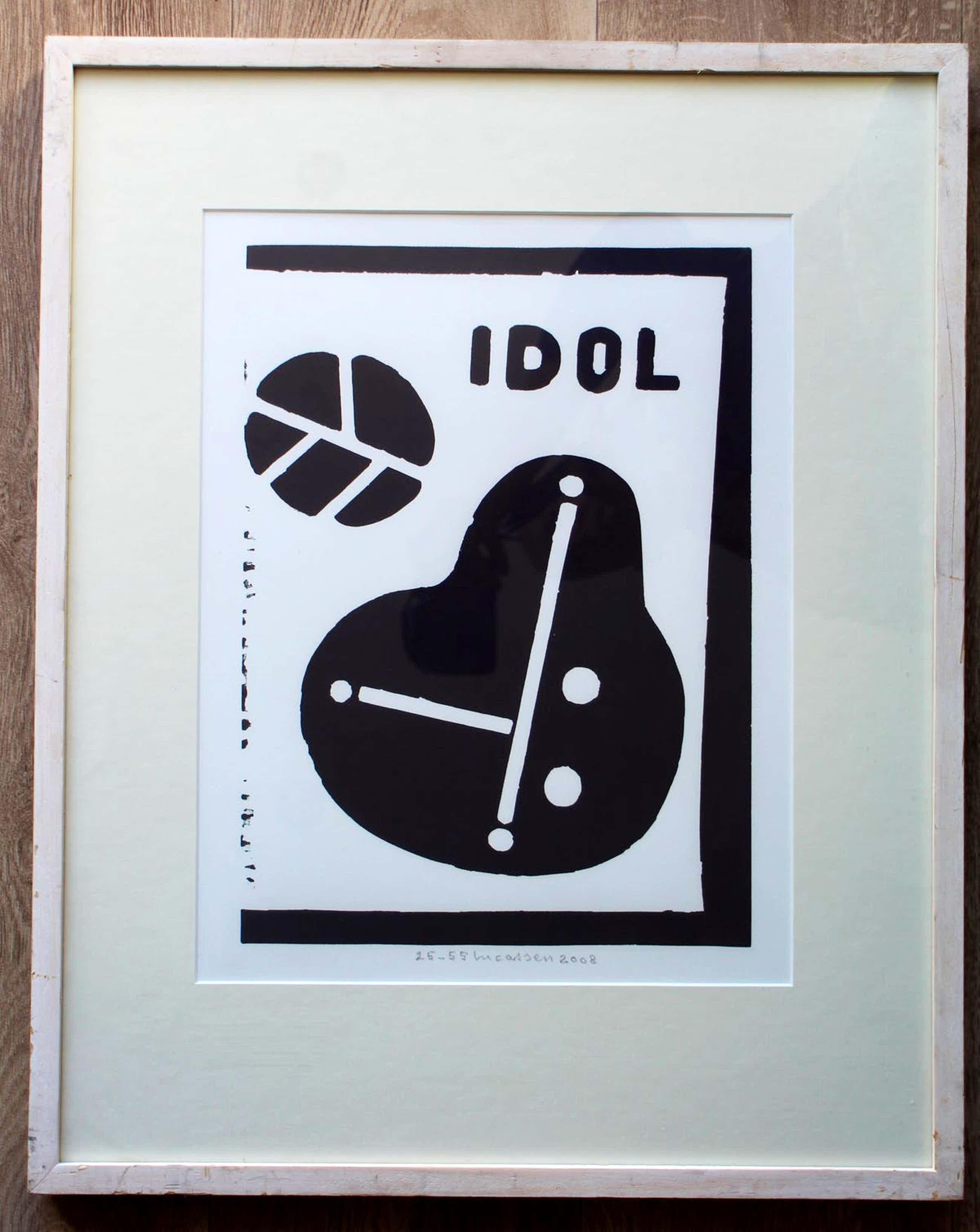 Reinier Lucassen - ingelijste zeefdruk: Idol - 2008 (nette lijst) kopen? Bied vanaf 150!