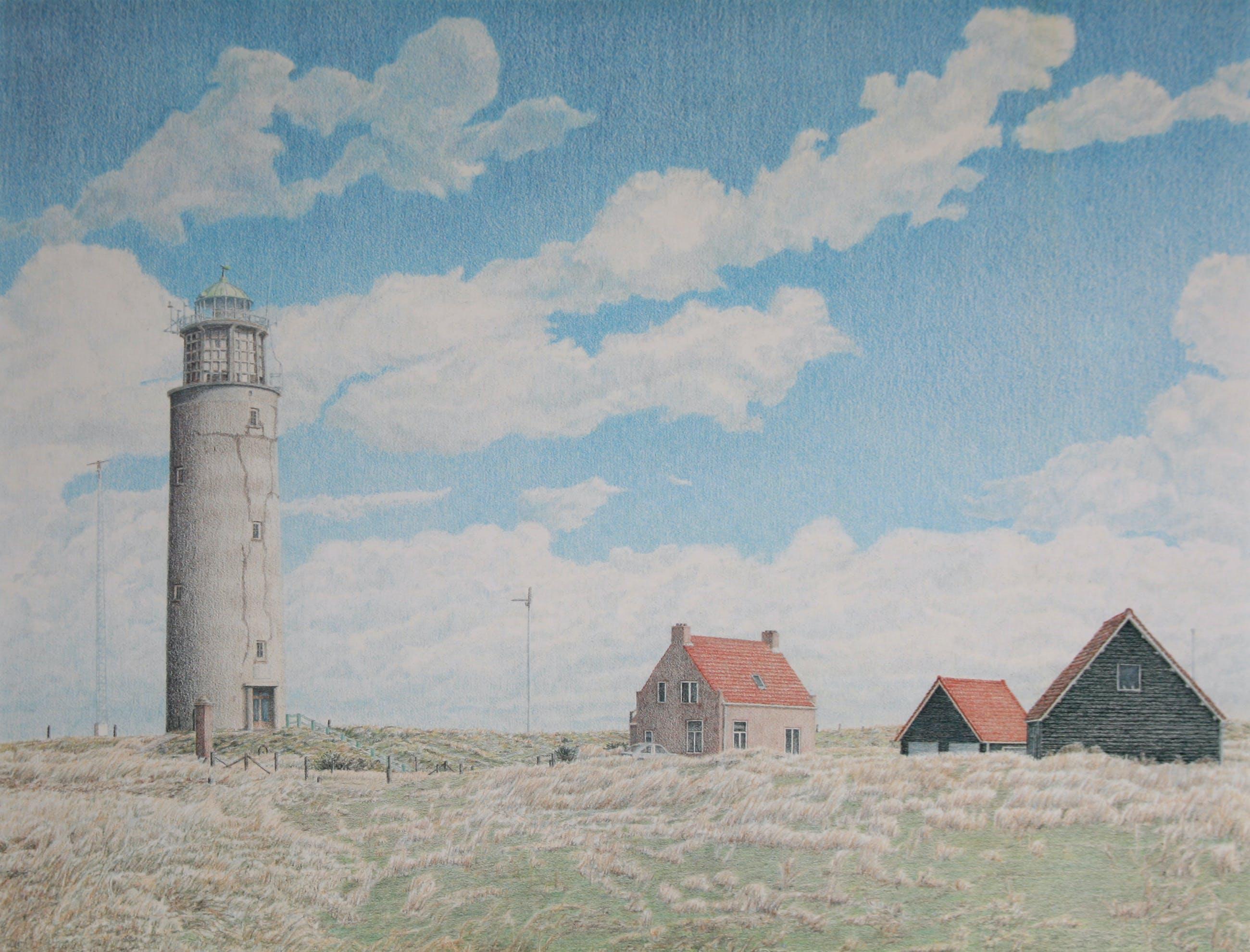 Frans Room - Vuurtoren – Texel - zeefdruk kopen? Bied vanaf 55!