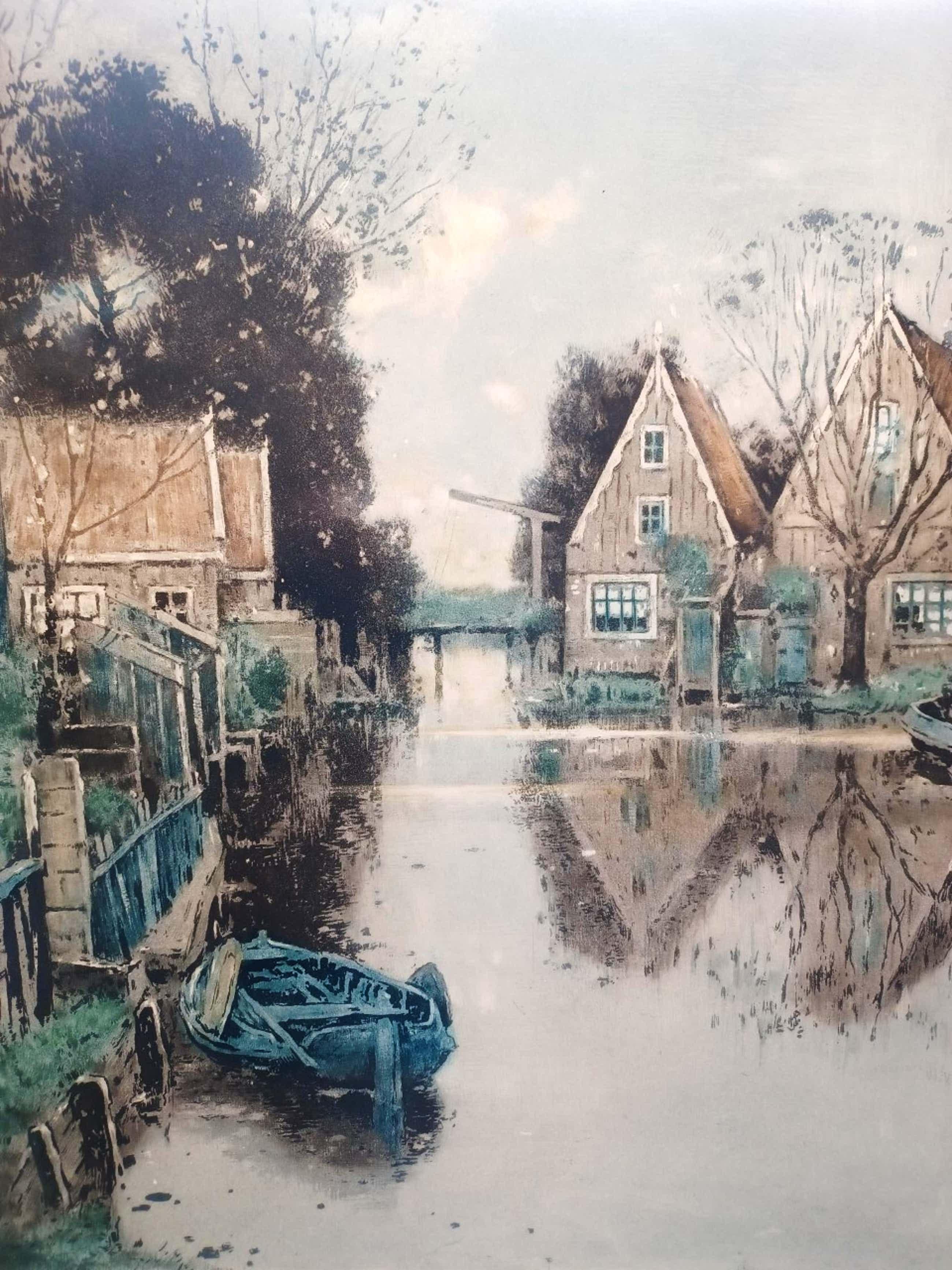 Henry Cassiers - Reflets sur le canal. (groot) kopen? Bied vanaf 75!