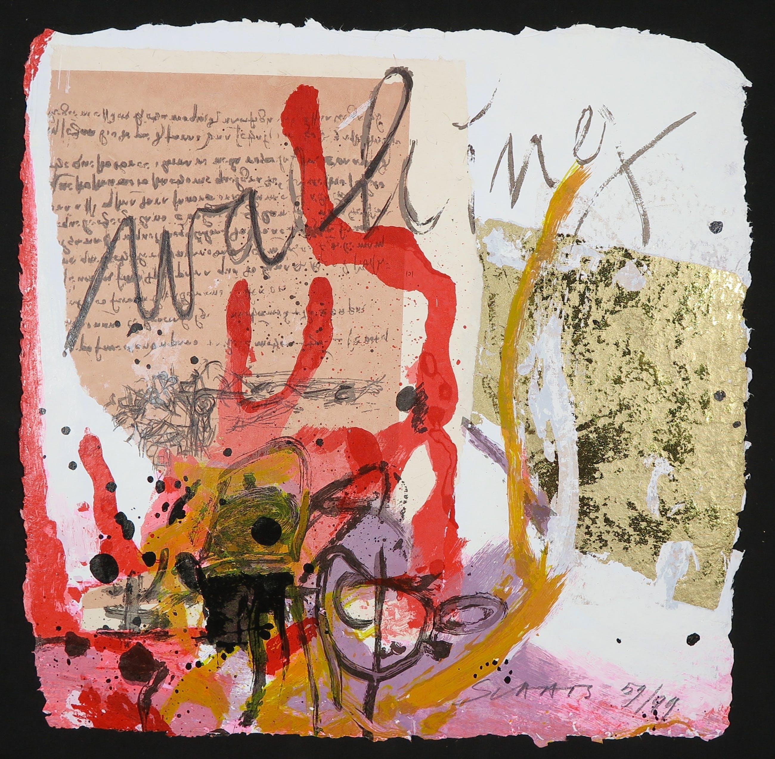 Miriam Slaats - Map met drie zeefdrukken, Alle kennis komt voort uit onze zintuigen kopen? Bied vanaf 1!