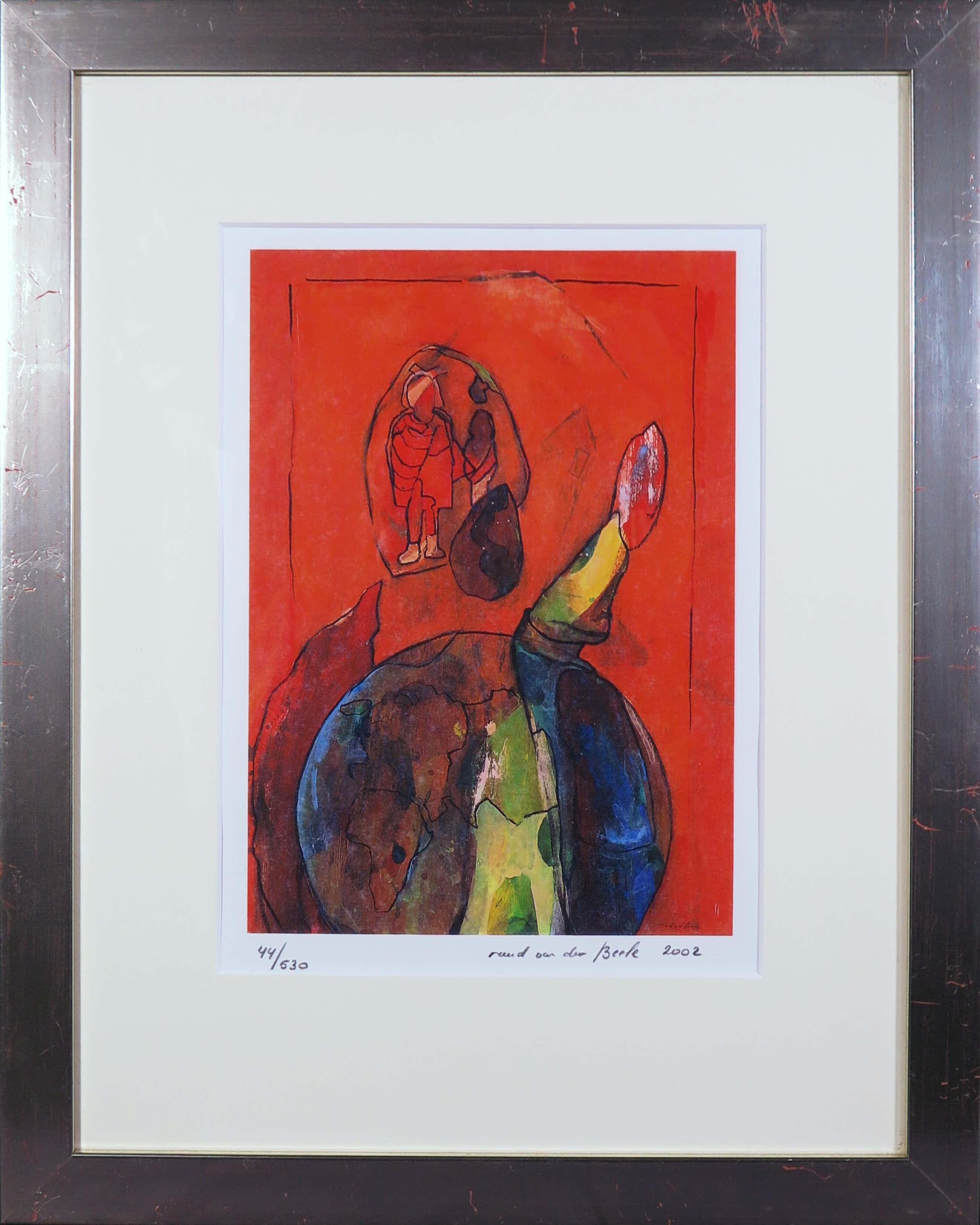 Ruud van der Beele - Zeefdruk, z.t. Abstract 1 - Ingelijst kopen? Bied vanaf 35!