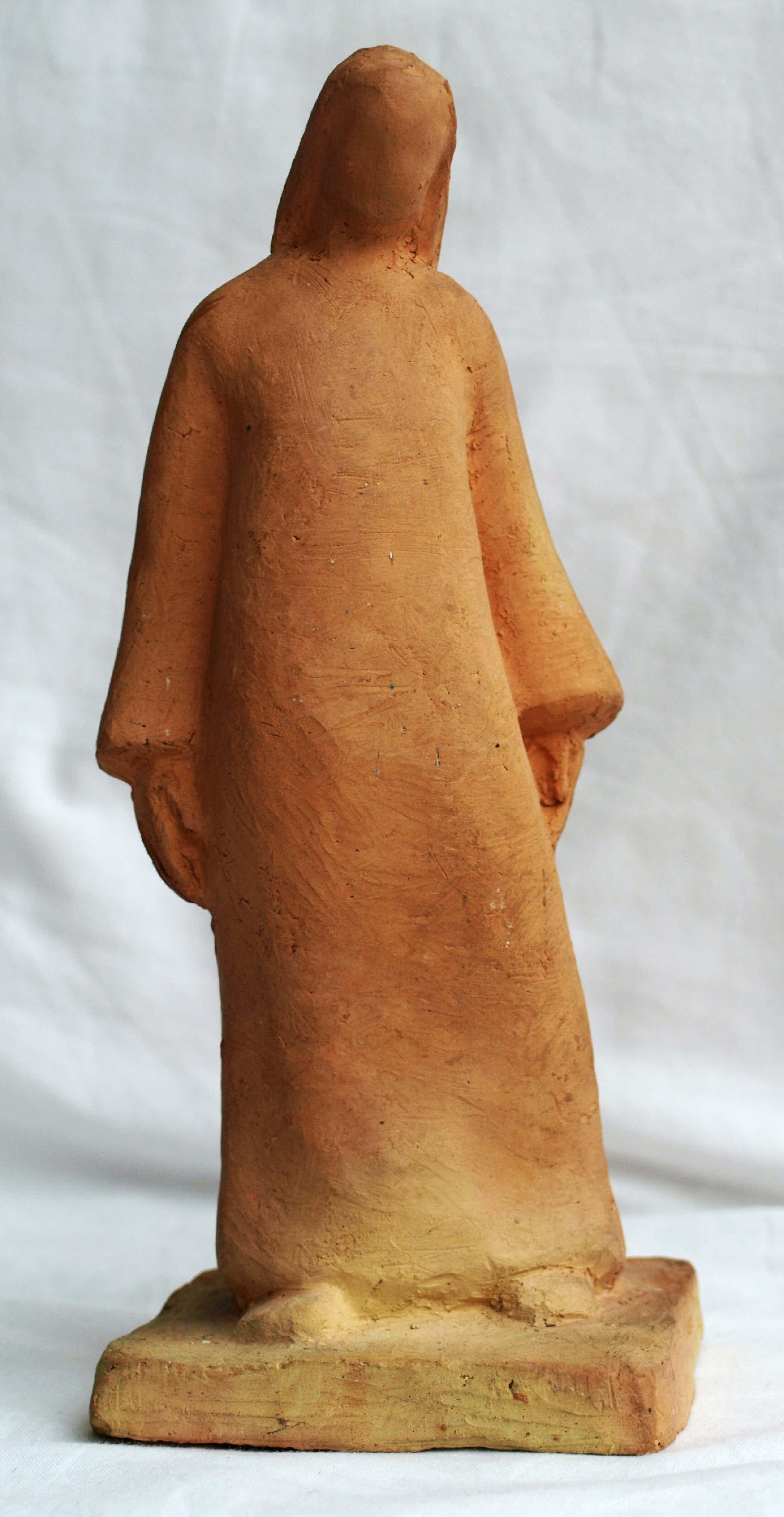 """Klaas Pijlman - Beeldje van Terracotta , """"Maria"""" – ca 1980 kopen? Bied vanaf 45!"""