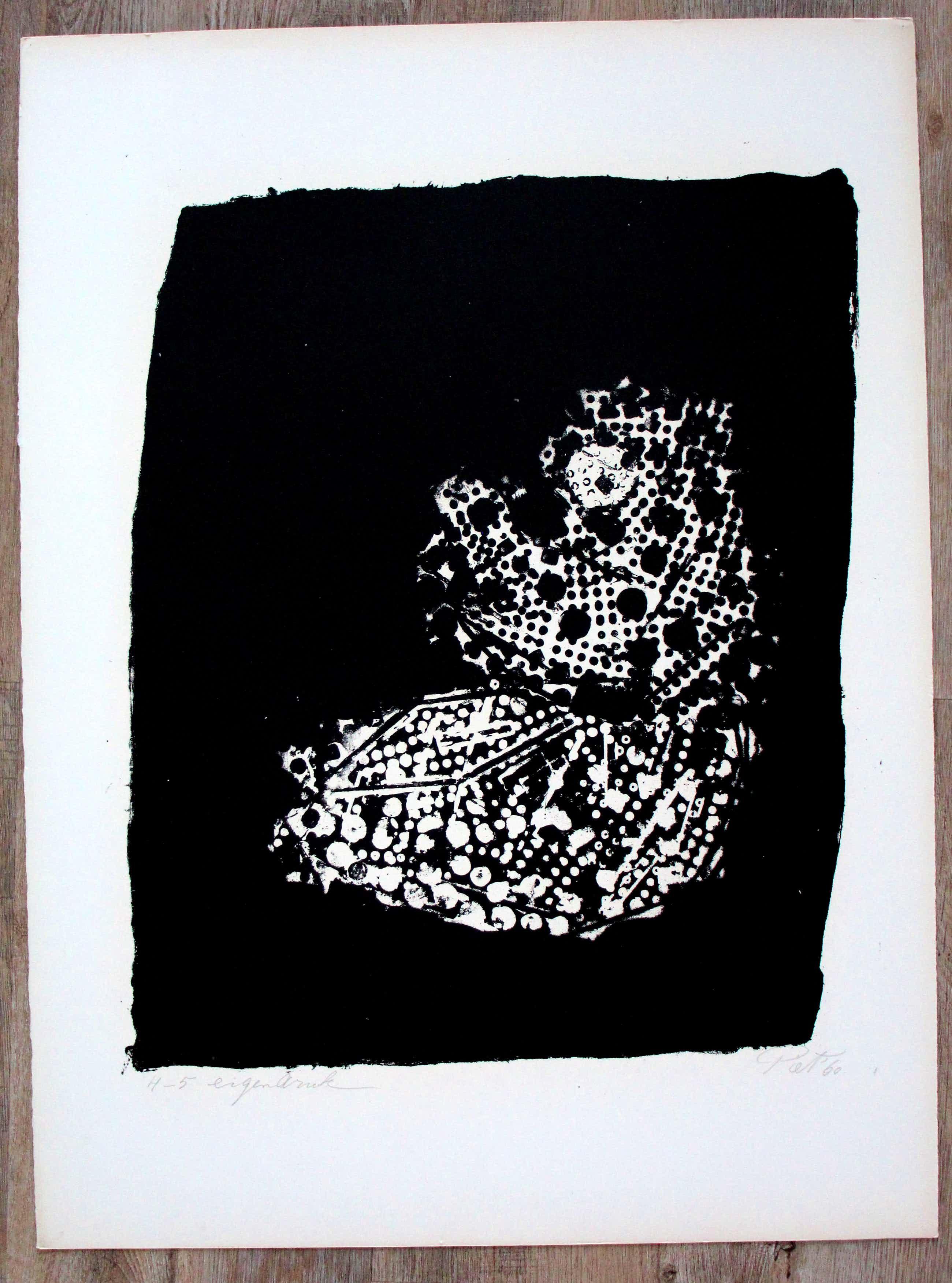Piet van Stuivenberg - Litho: Abstracte compositie - 1961 kopen? Bied vanaf 45!