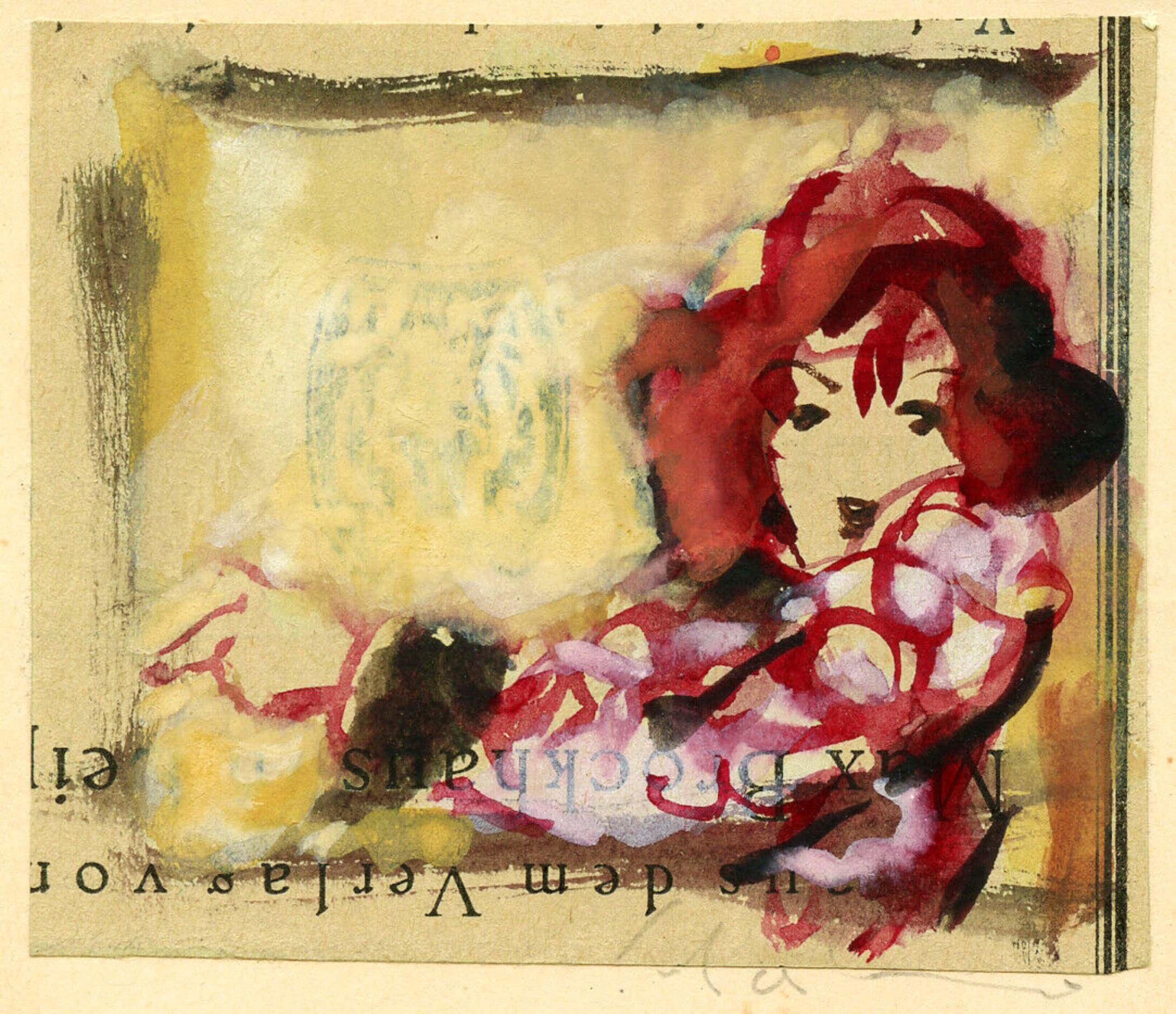 Max Schwimmer - Dame mit roten Haaren kopen? Bied vanaf 490!