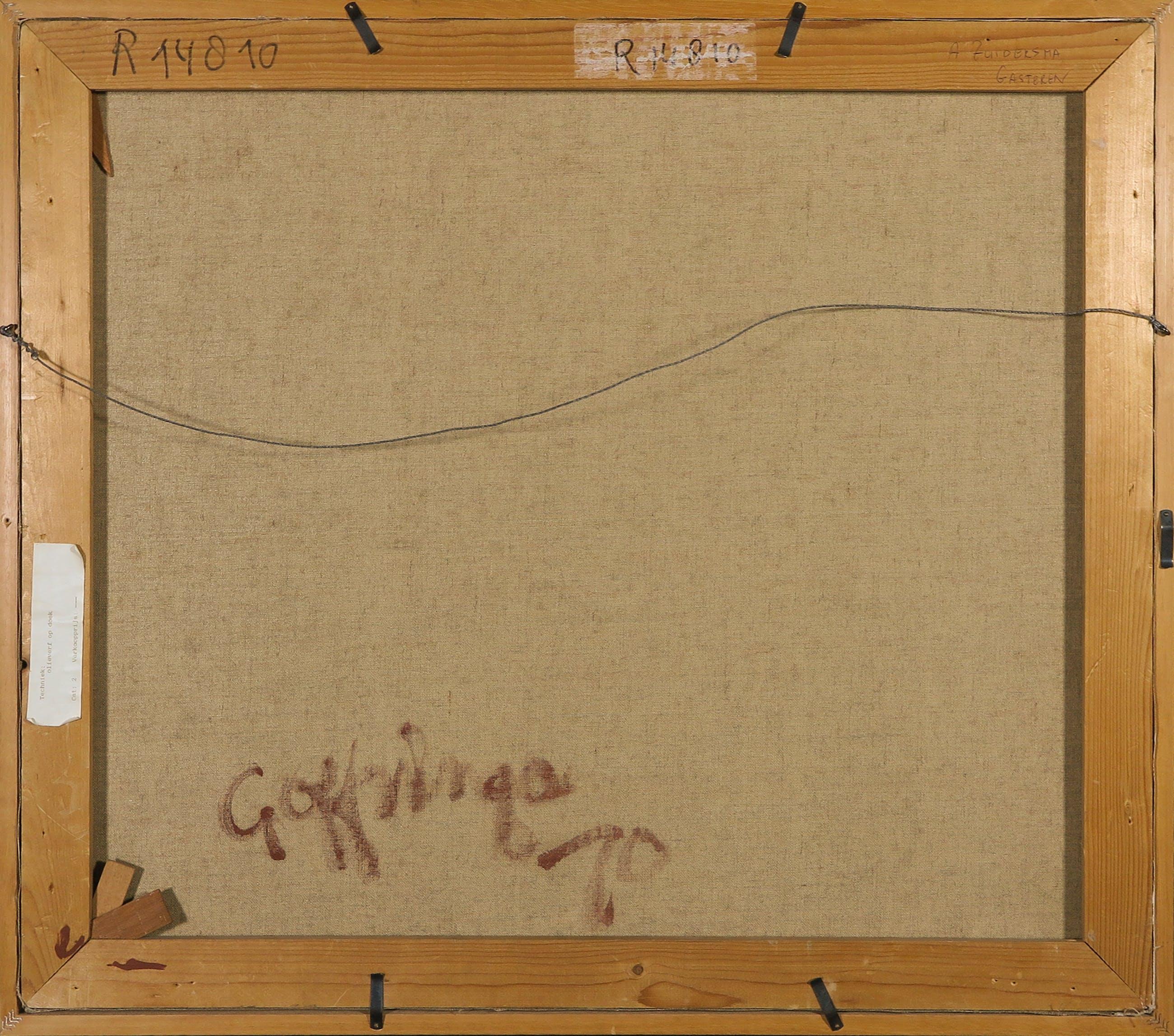 Gerrit Offringa - Acryl op doek, Abstracte compositie - Ingelijst kopen? Bied vanaf 1!