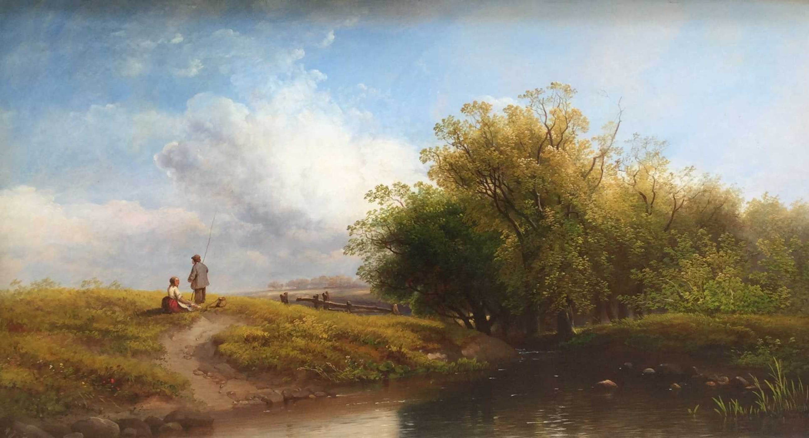 Albert Jurardus van Prooijen - B9724/9414, romantisch landschap met figuren kopen? Bied vanaf 600!