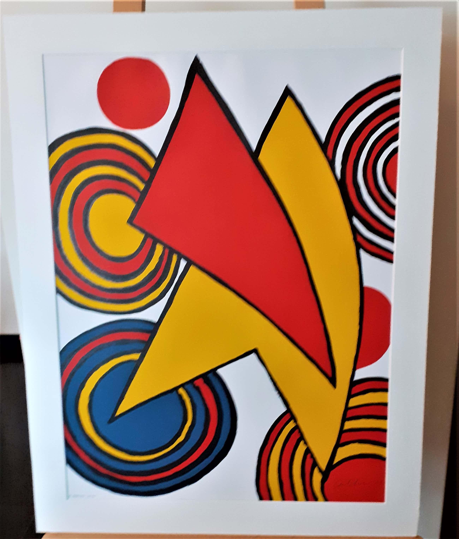 Alexander Calder - The Triangles et Spirale (met passepartout) H/C ex kopen? Bied vanaf 799!