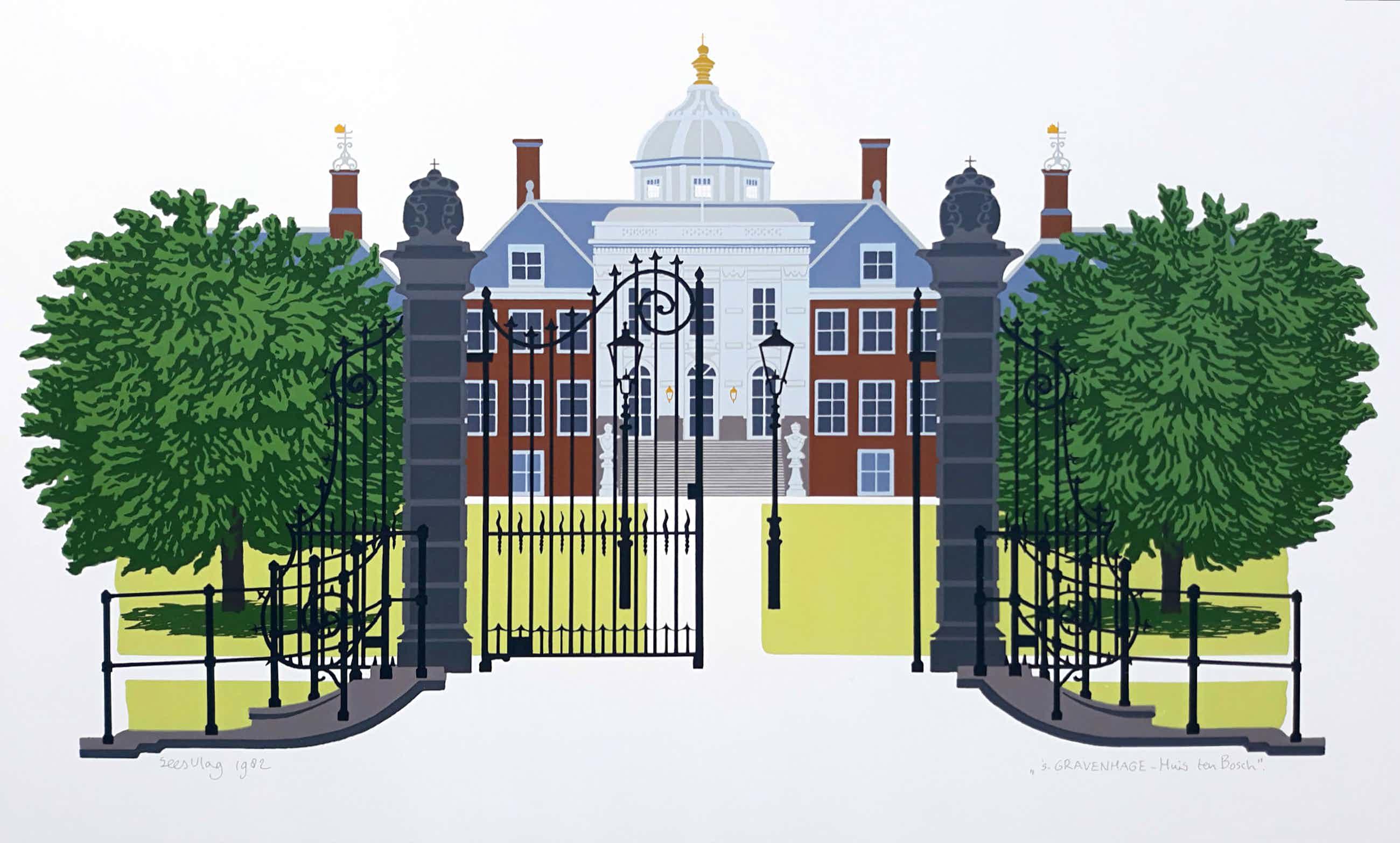 Sees Vlag - 's Gravenhage - Huis ten Bosch, zeefdruk kopen? Bied vanaf 75!