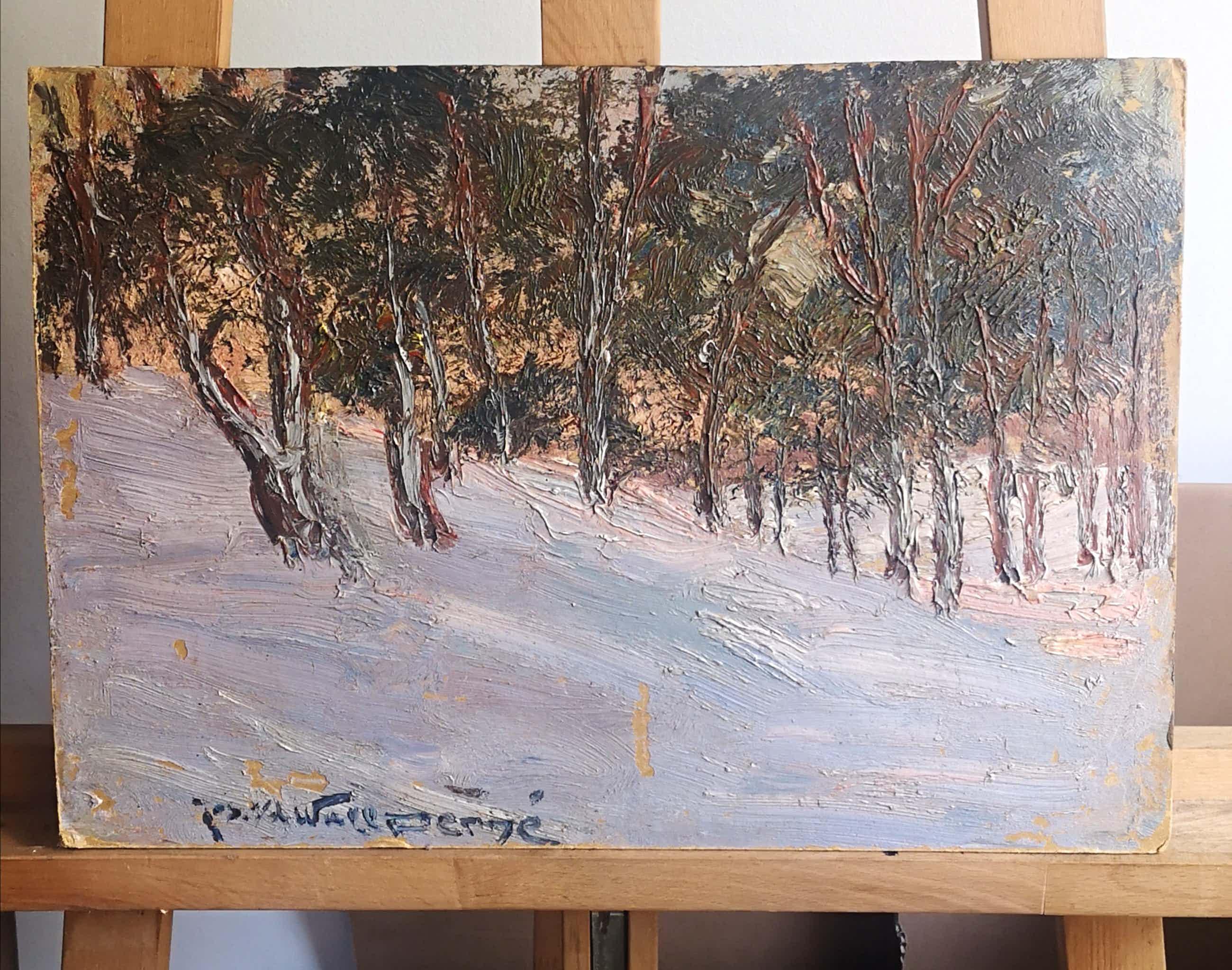 Joseph van de Wall Perne - Sneeuwlandschap met bomen kopen? Bied vanaf 35!