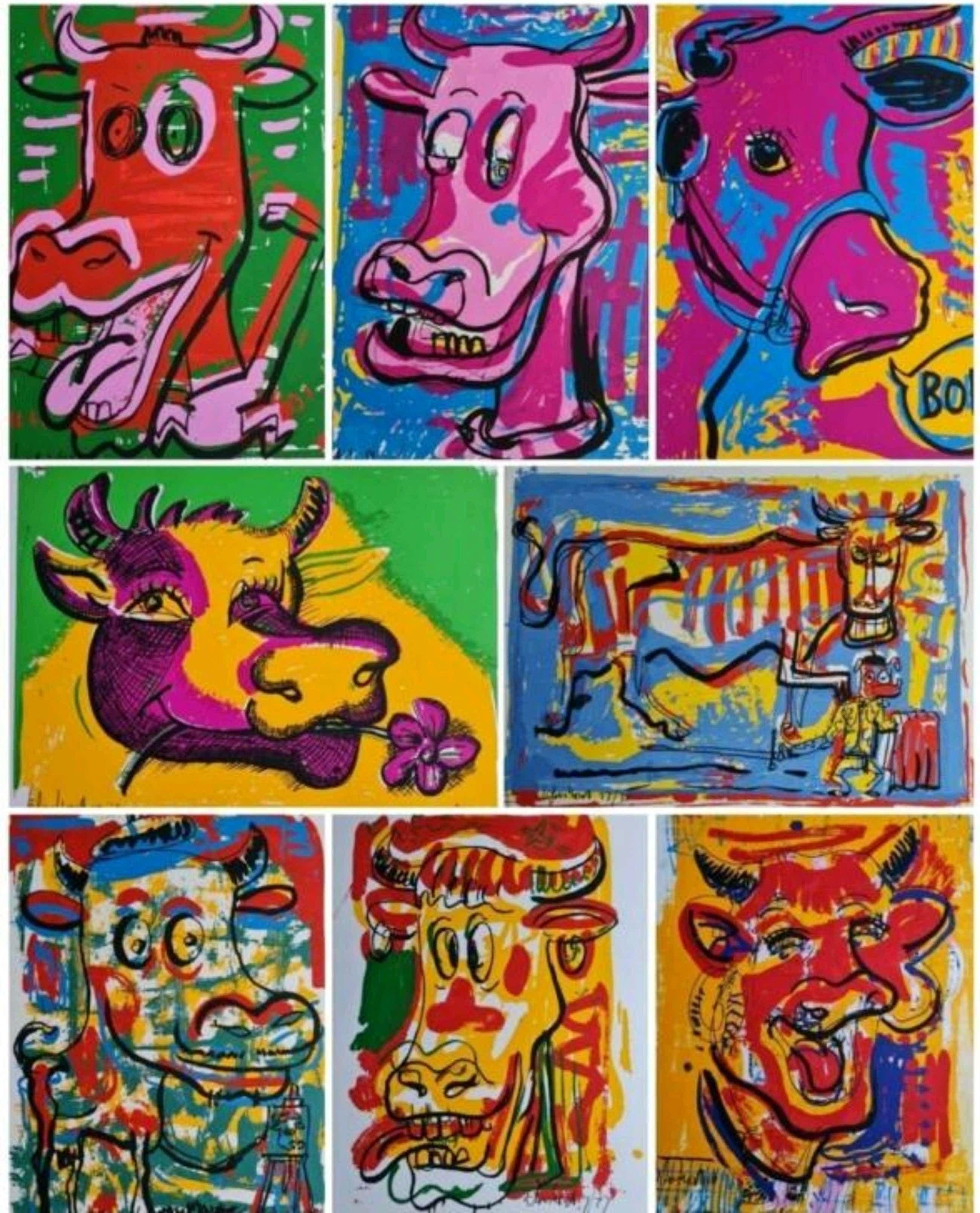 Peter Klashorst - Lot van 8 zeefdrukken - gesigneerd kopen? Bied vanaf 95!
