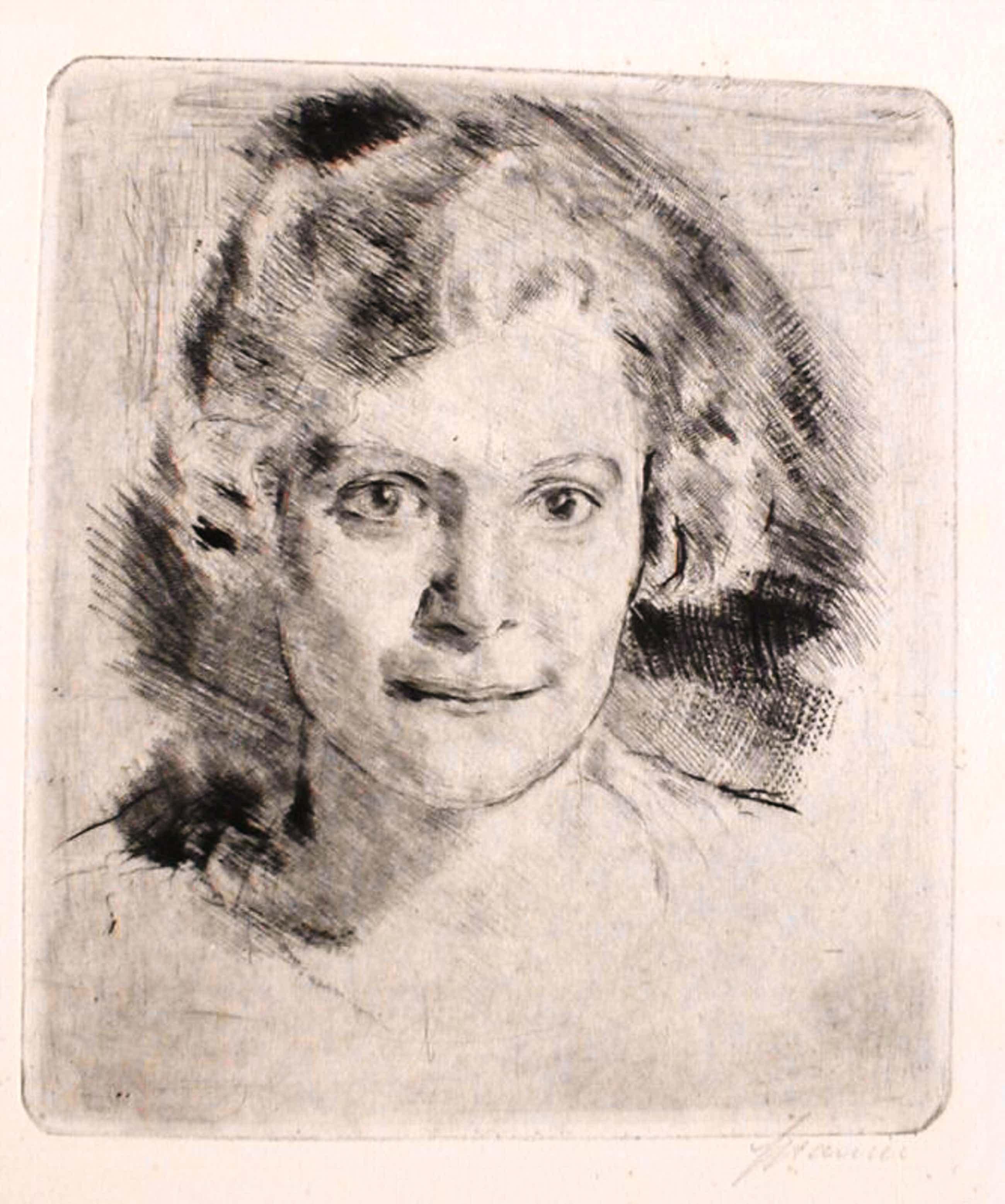Will Spanier - Frauenportrait kopen? Bied vanaf 85!