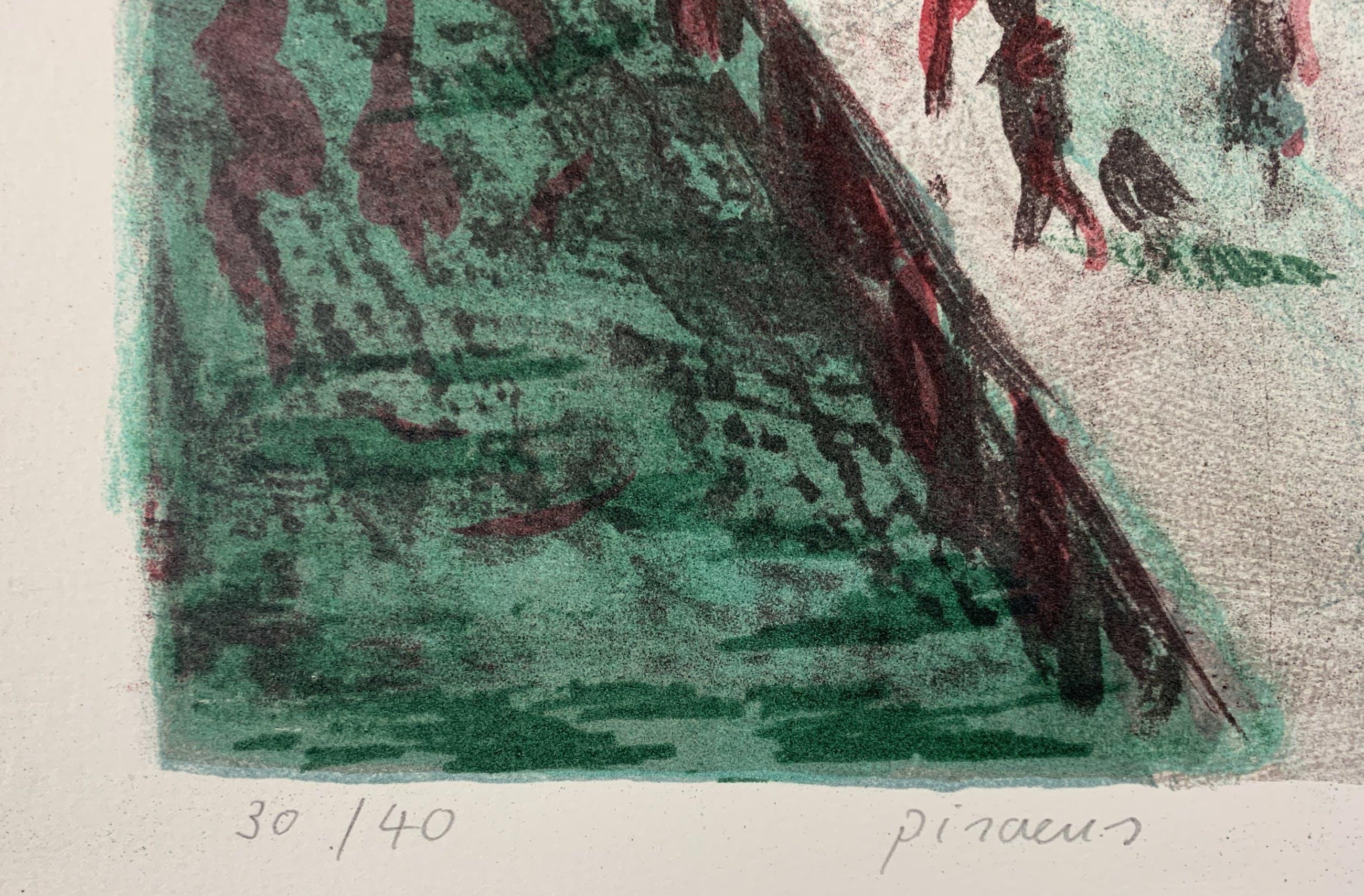 Jeroen Hermkens - Kleurenlitho - 'Pireaus' - 1997 kopen? Bied vanaf 100!