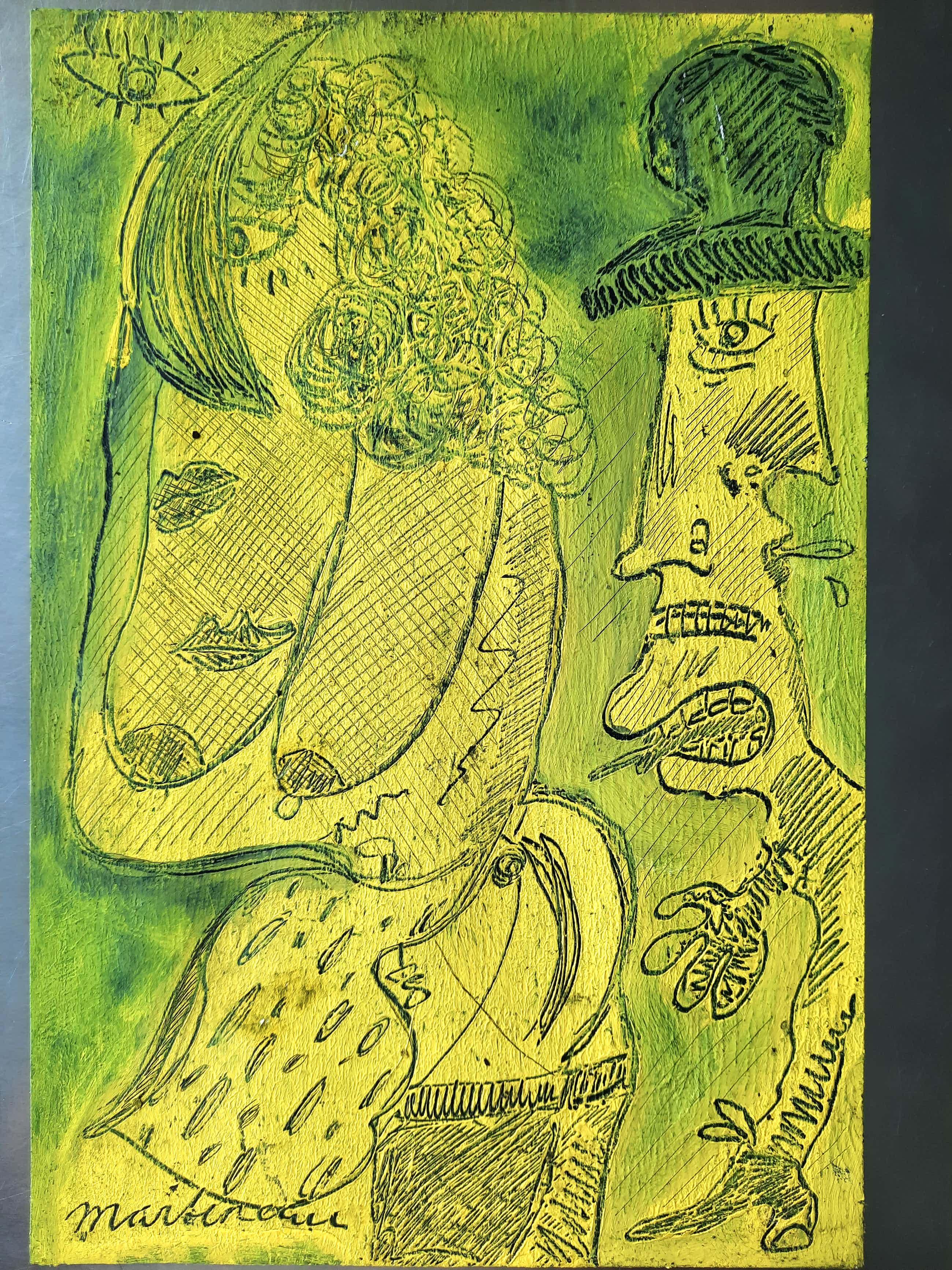Anton Martineau - schilderij op dik papier gesigneerd kopen? Bied vanaf 120!
