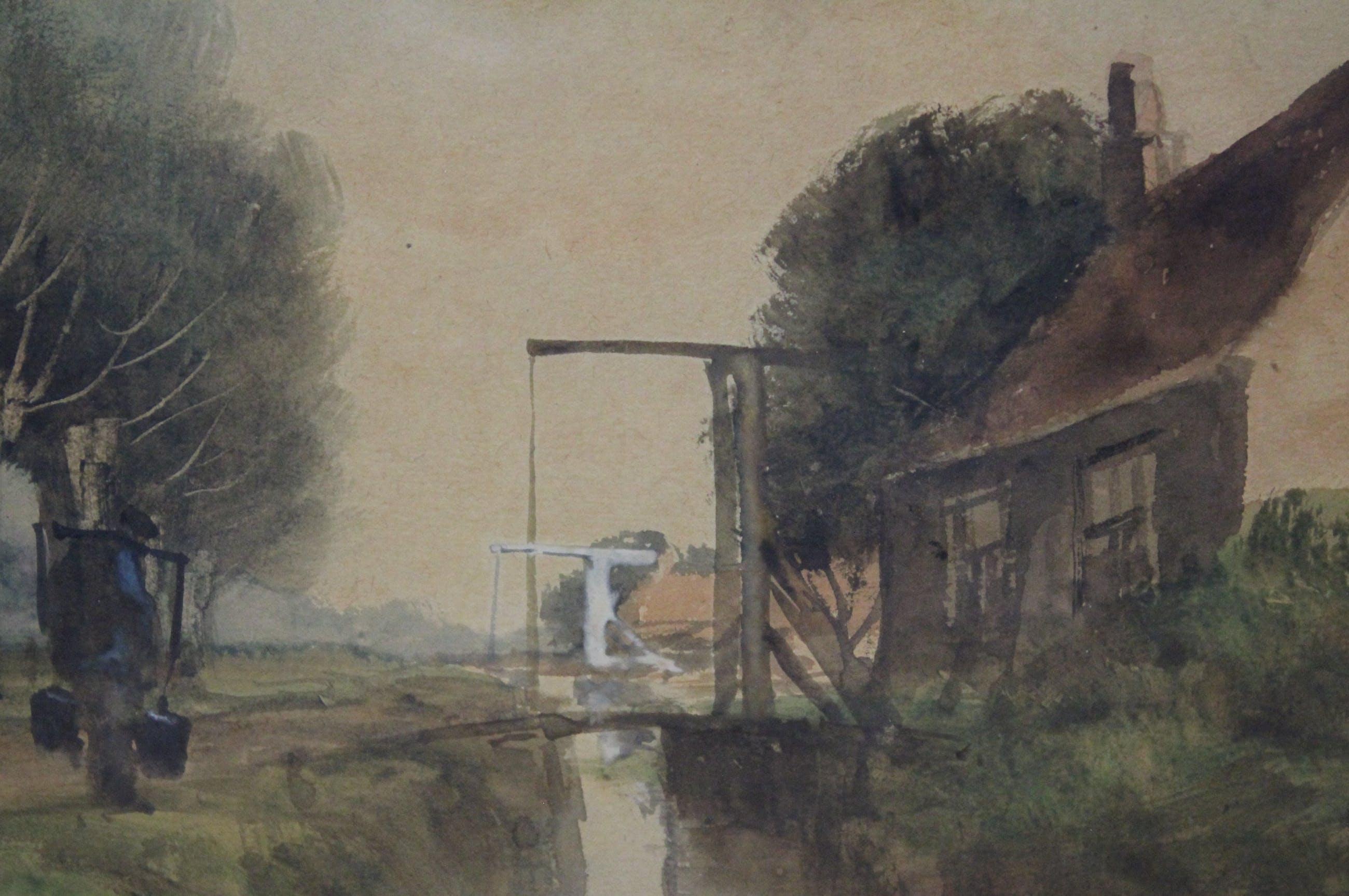 Gerard Altmann (I) - aquarel op papier - landschap kopen? Bied vanaf 120!
