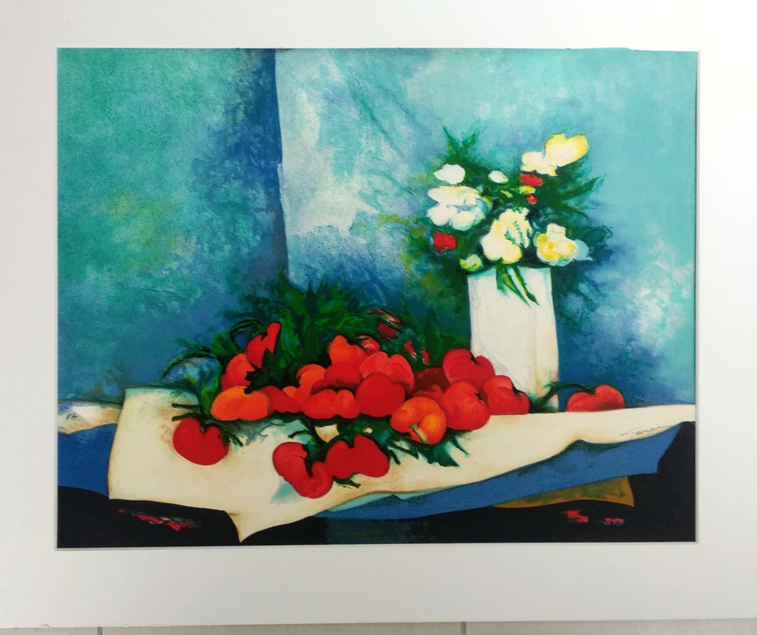 Claude Gaveau - Blumen und Tomaten, Farblithographie kopen? Bied vanaf 130!