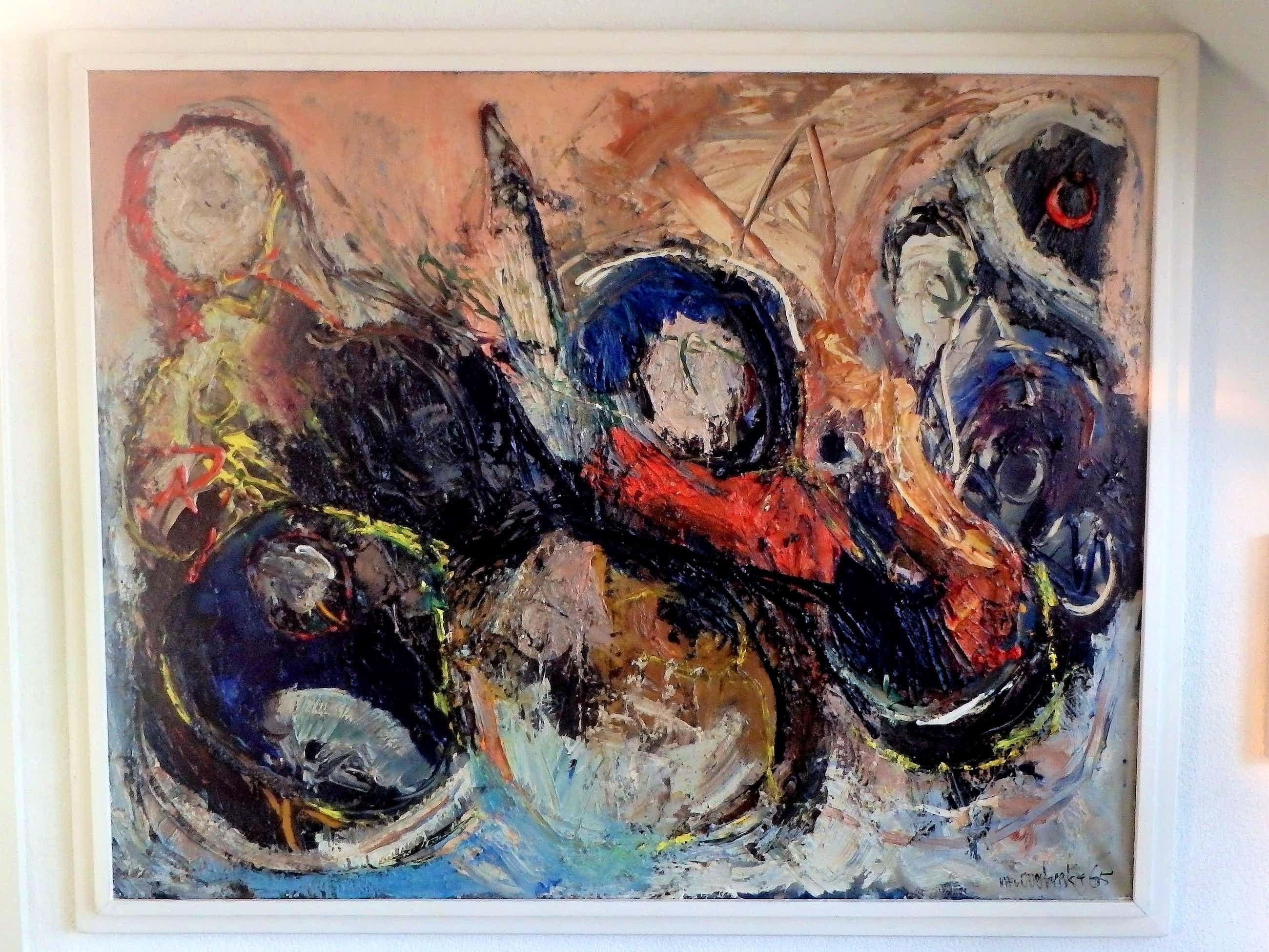 Michel van Overbeeke - abstracte compositie kopen? Bied vanaf 750!