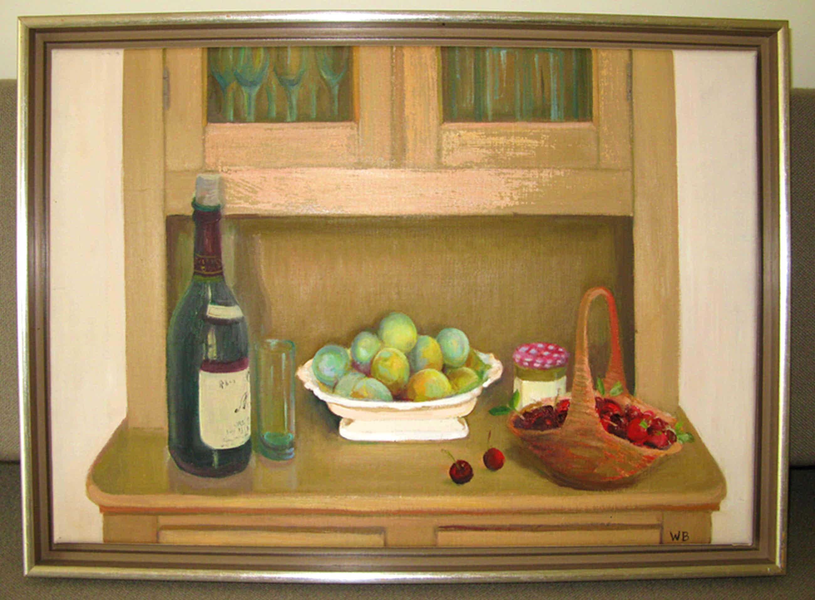 Willy Belinfante - Stilleven met wijn en fruit kopen? Bied vanaf 120!