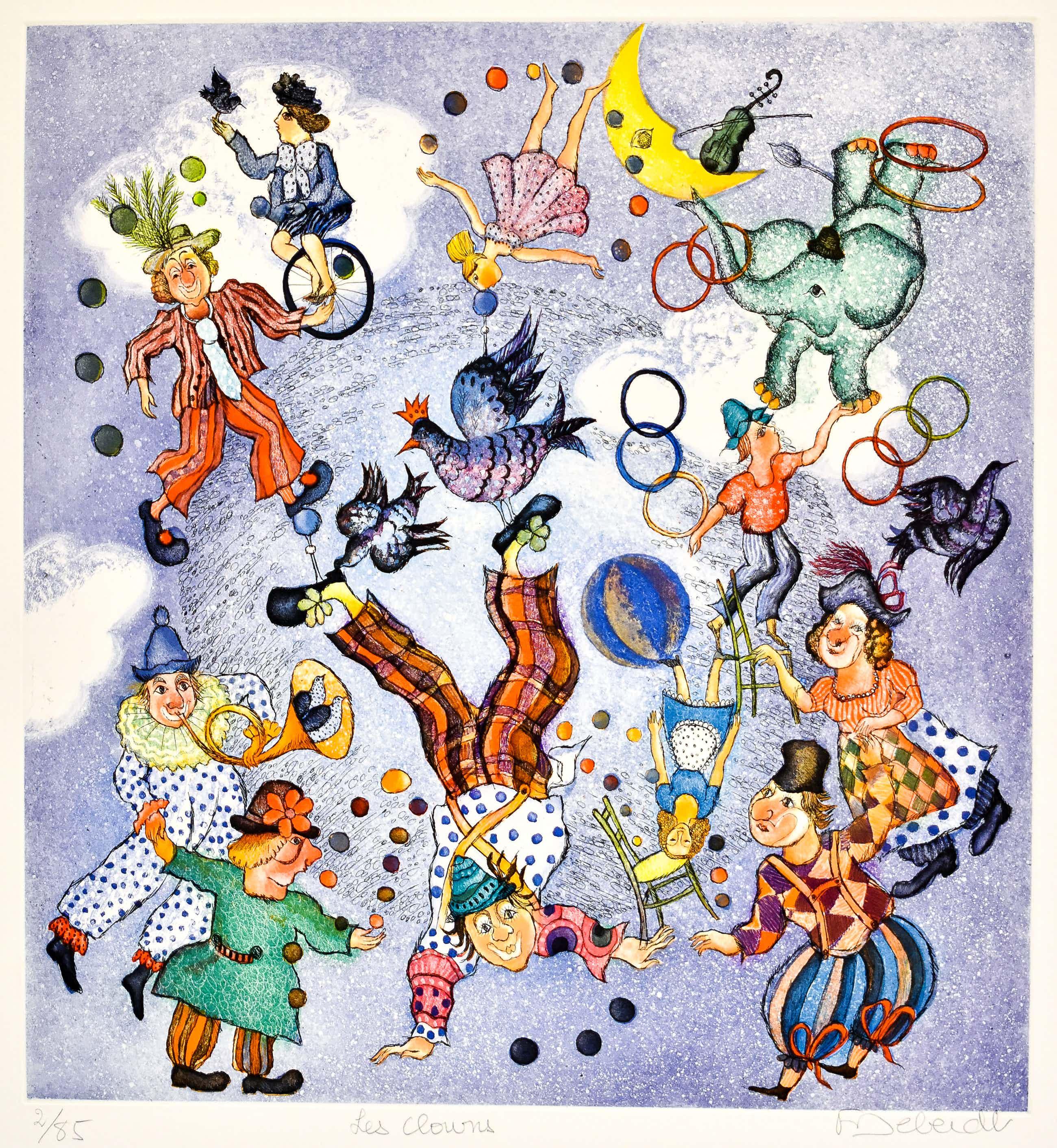 Francoise Deberdt - Les Clowns kopen? Bied vanaf 100!