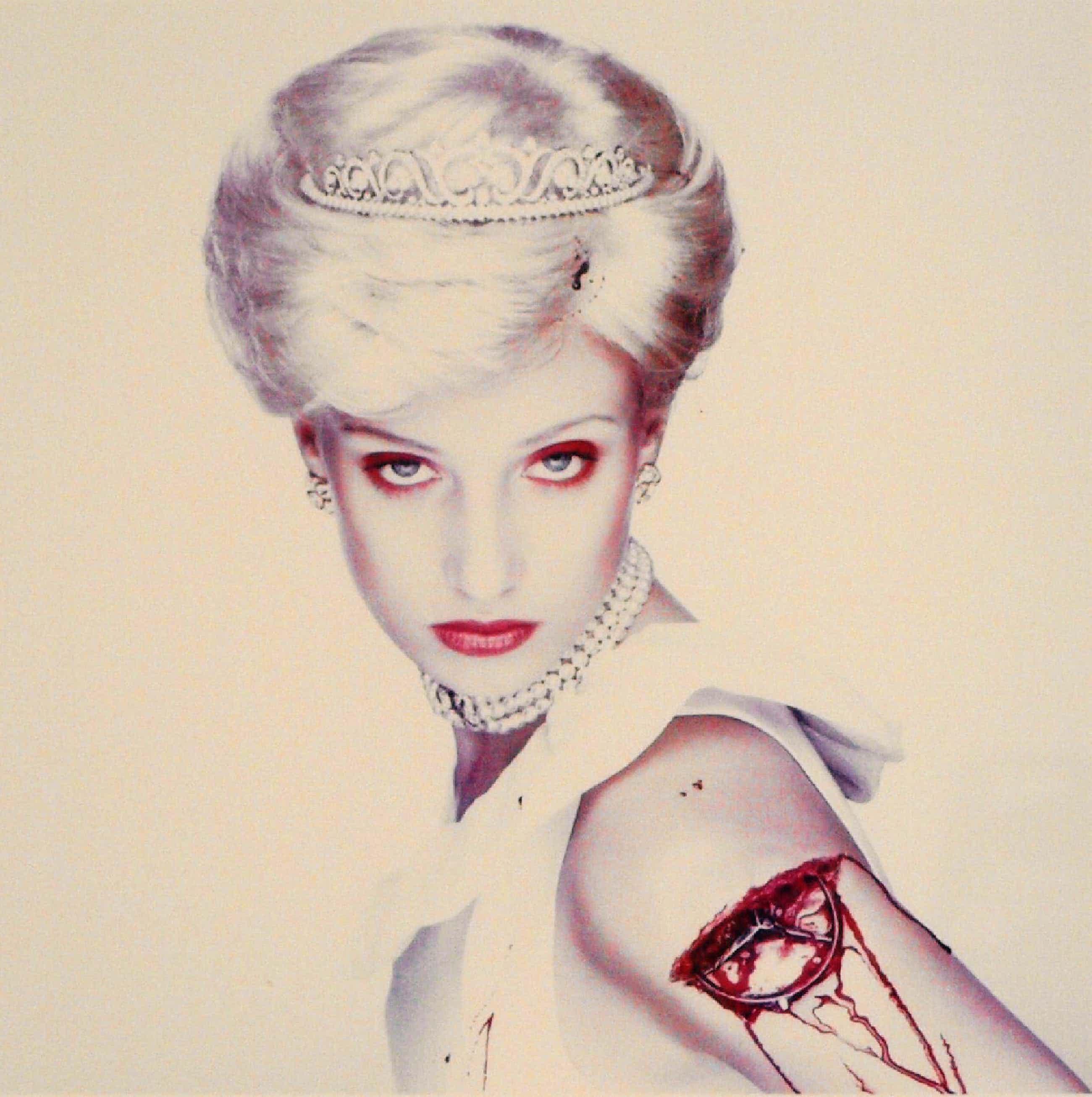 Erwin Olaf - Ingelijste foto uit de serie 'Royal Blood' , Lady Diana - 2000 kopen? Bied vanaf 3500!