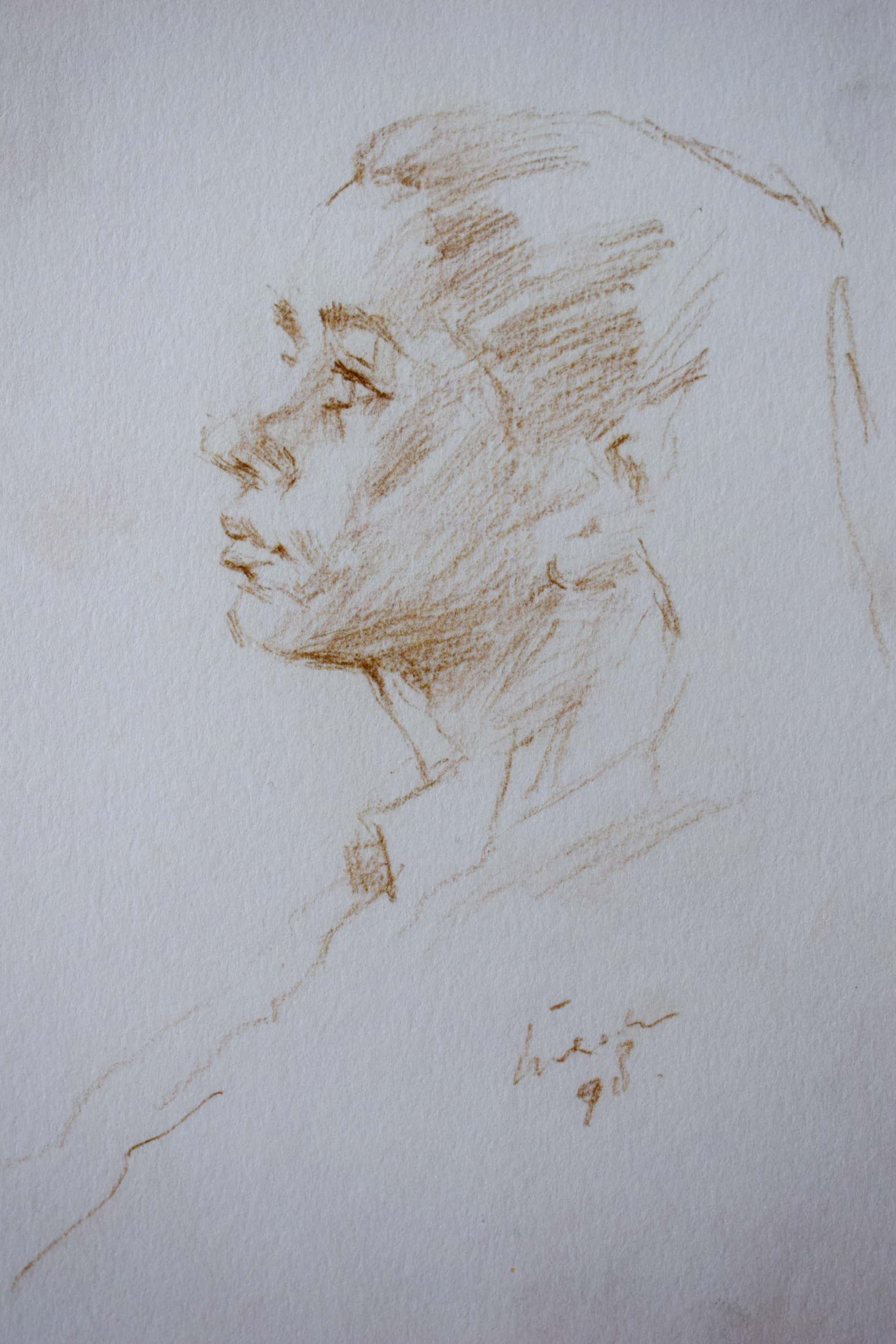 Joop Liesker - Dames portret kopen? Bied vanaf 35!