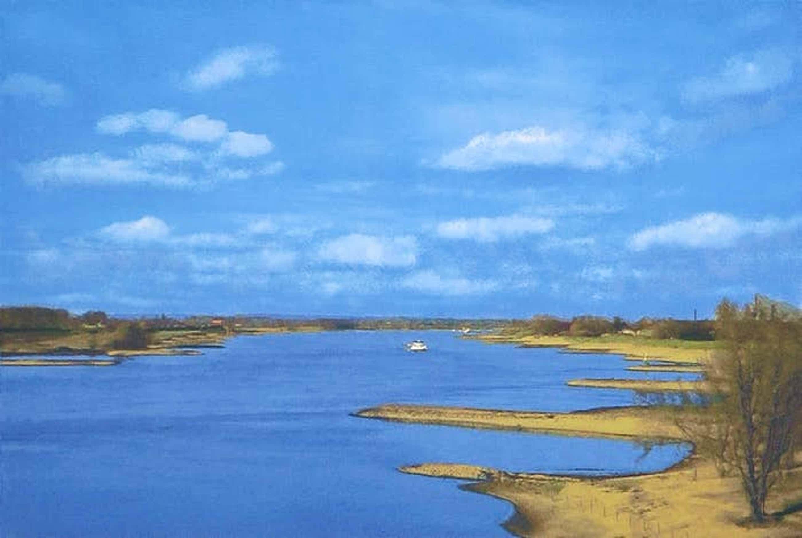 Henk van de Laar - Zeefdruk, Rivier en land kopen? Bied vanaf 1!