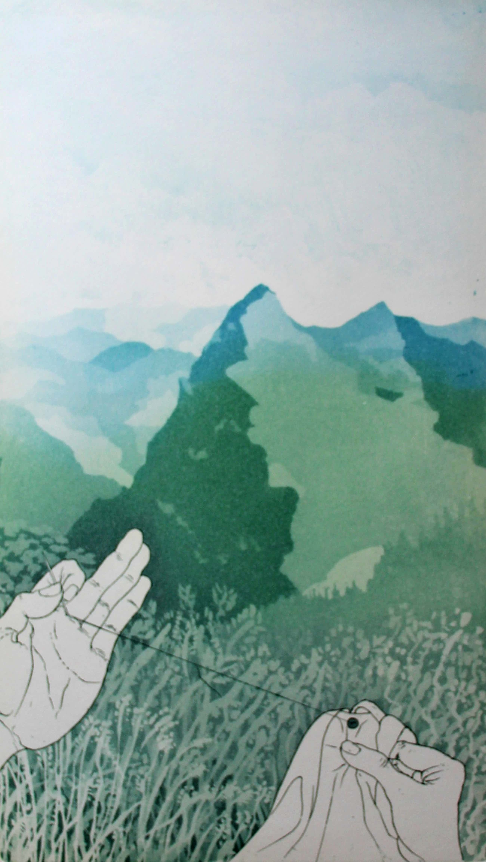 Sjoerd Bakker - kleurenets: landschap met naald en draad kopen? Bied vanaf 40!