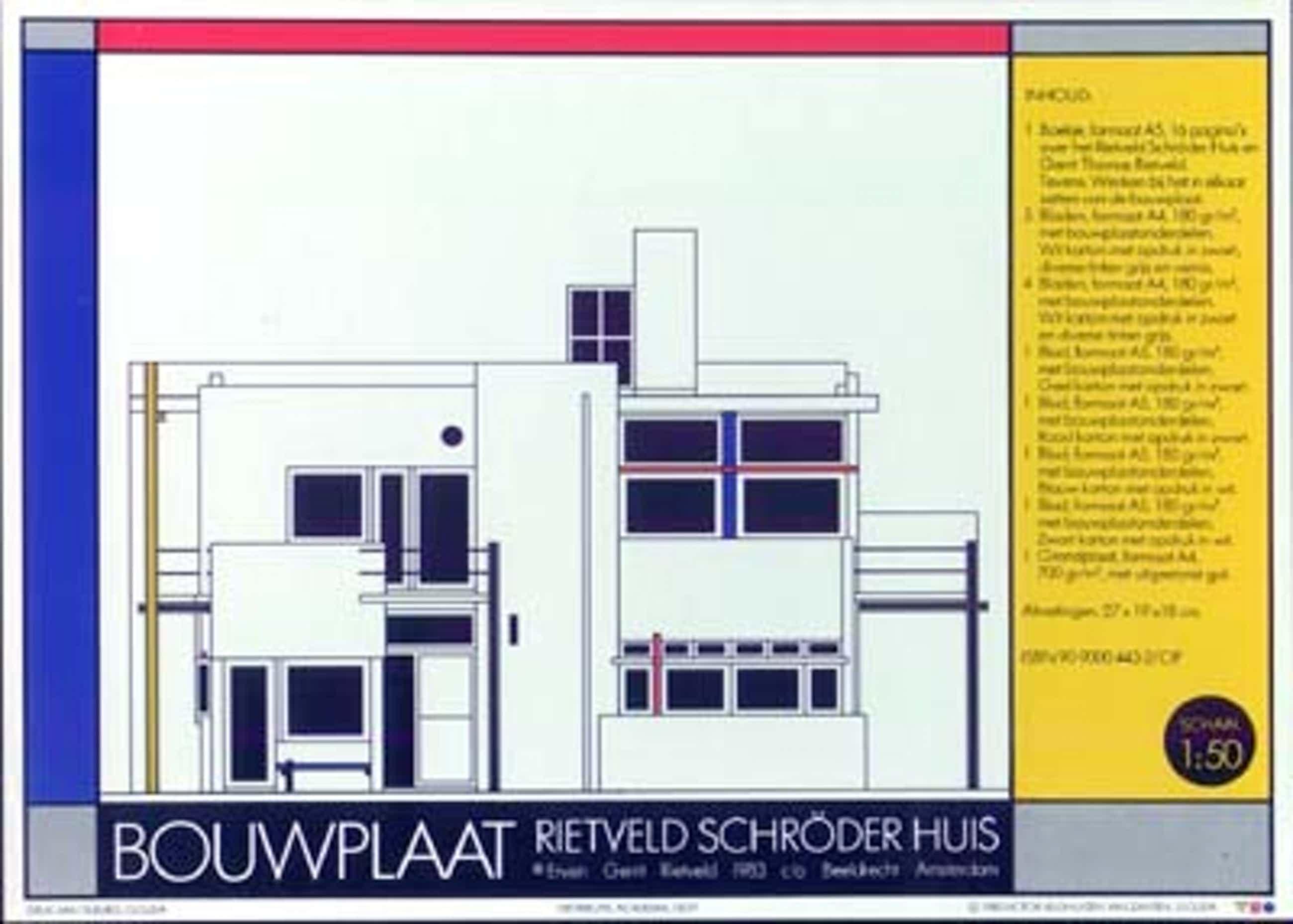 Gerrit Rietveld - Bouwplaat Rietveld Schröder huis kopen? Bied vanaf 45!