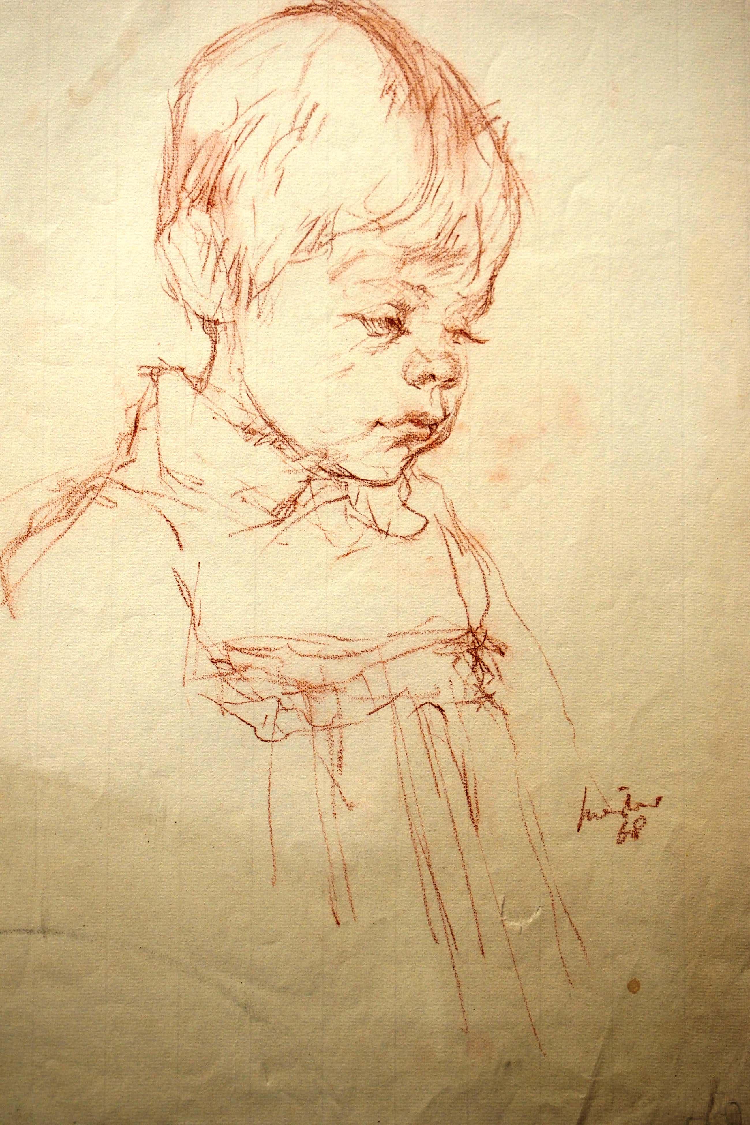 Joop Liesker - Portret van klein meisje in een jurkje kopen? Bied vanaf 75!