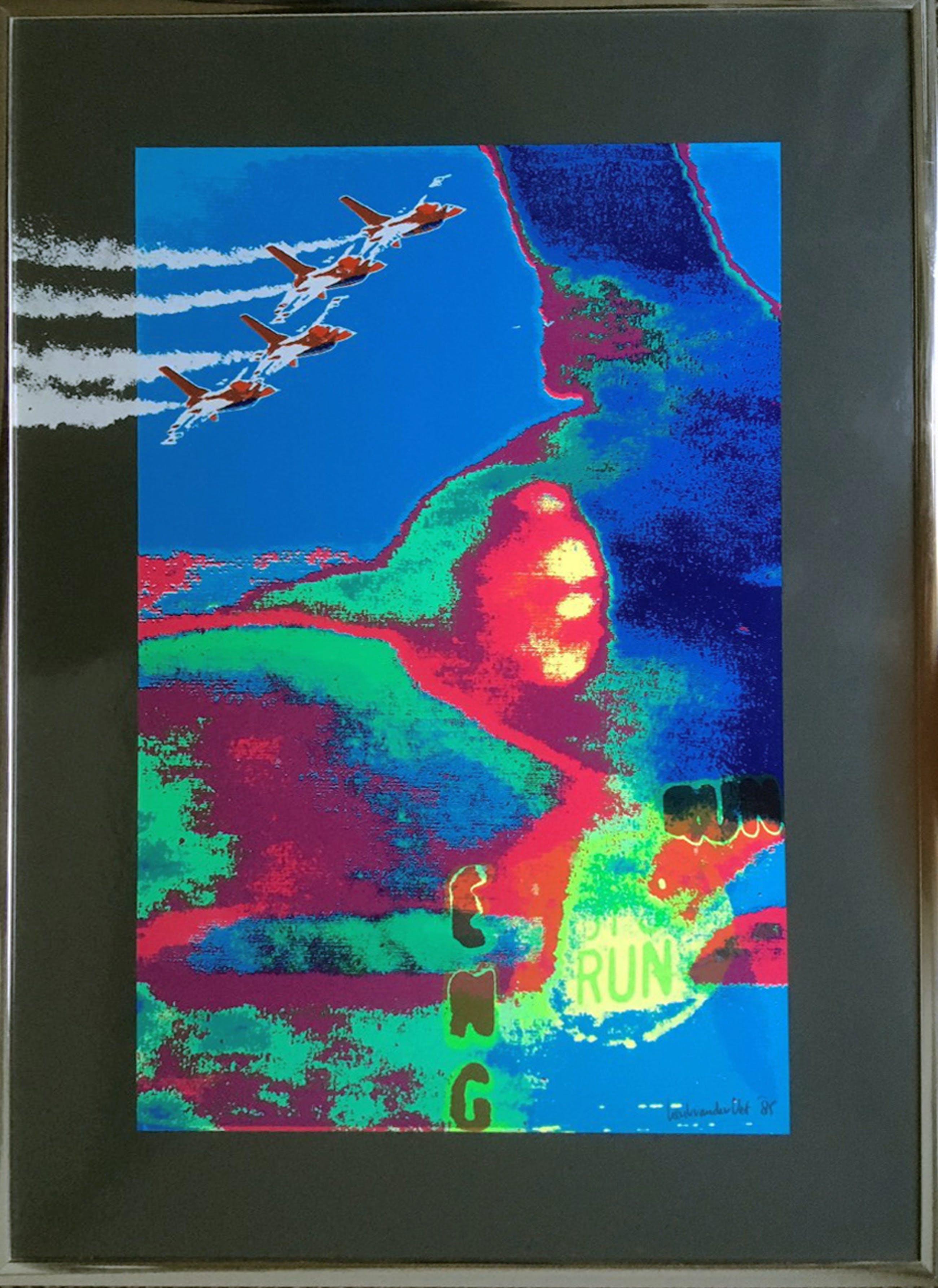 Henk van der Vet - zeefdruk, uitgave Fokker 1985, ingelijst kopen? Bied vanaf 1!